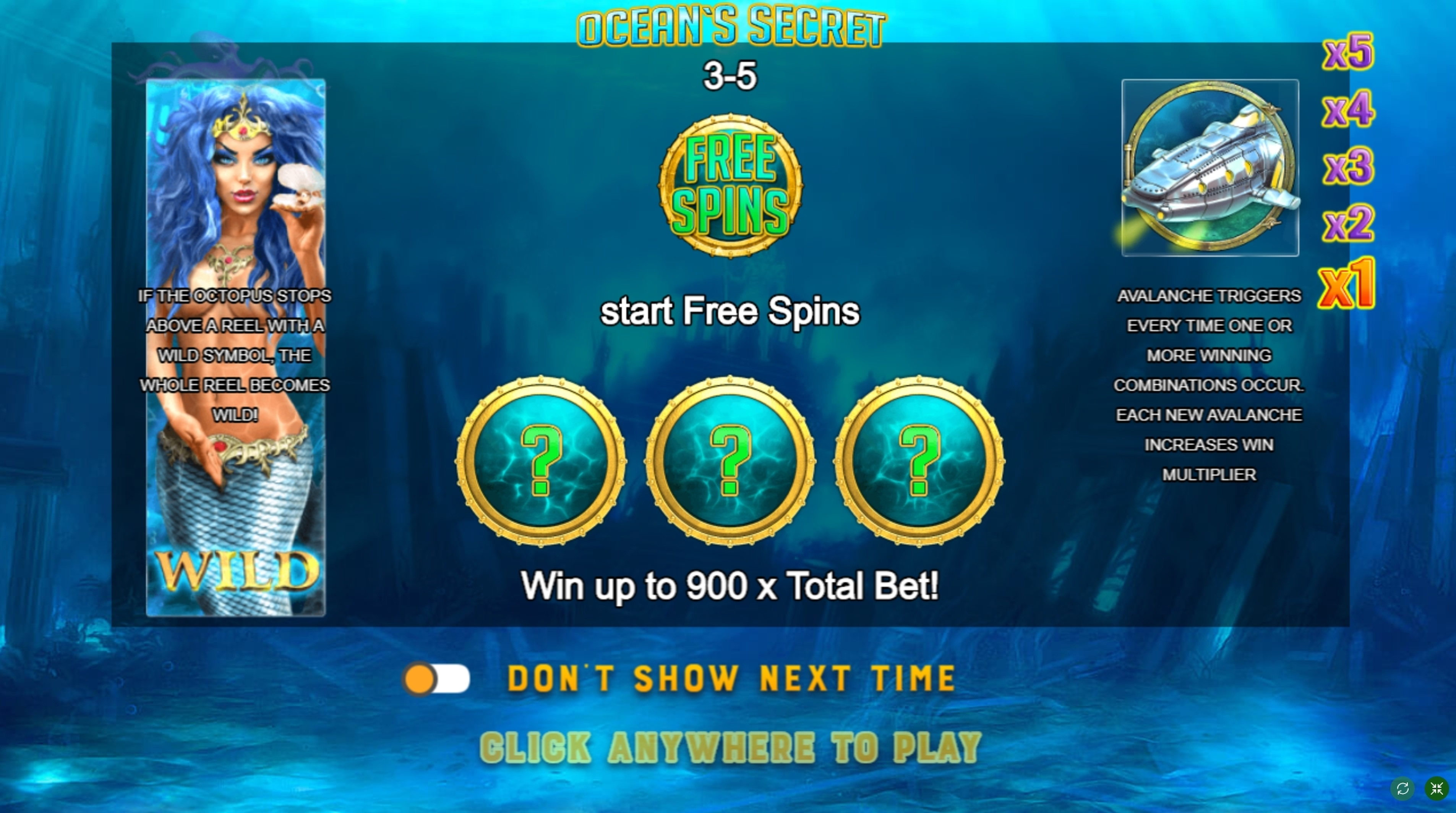 Play Ocean's Secret Free Casino Slot Game by FUGA Gaming