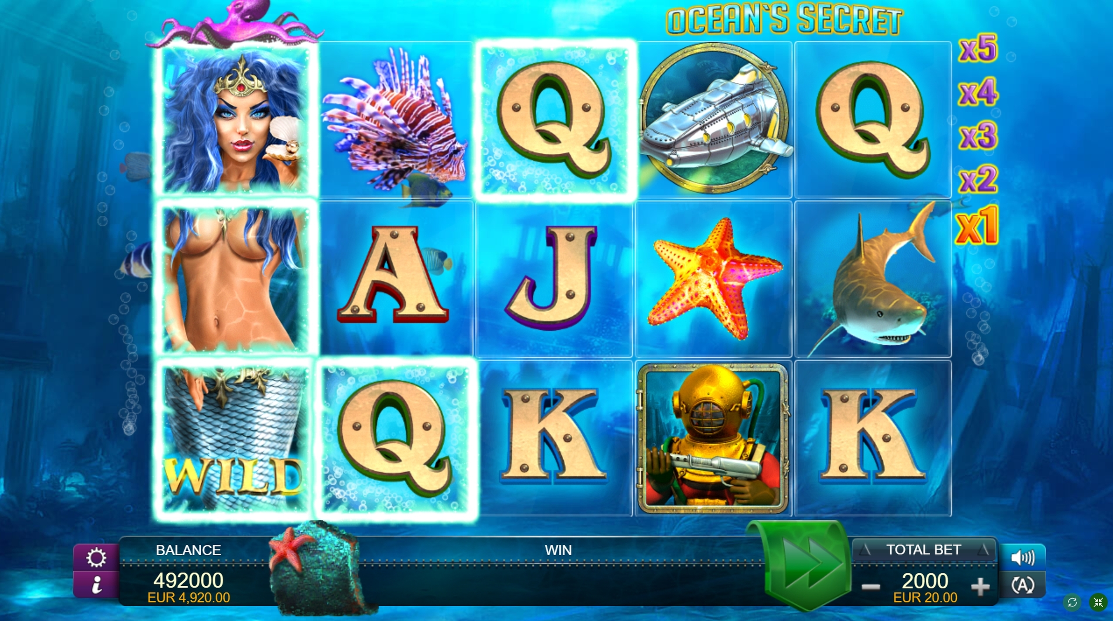 Win Money in Ocean's Secret Free Slot Game by FUGA Gaming