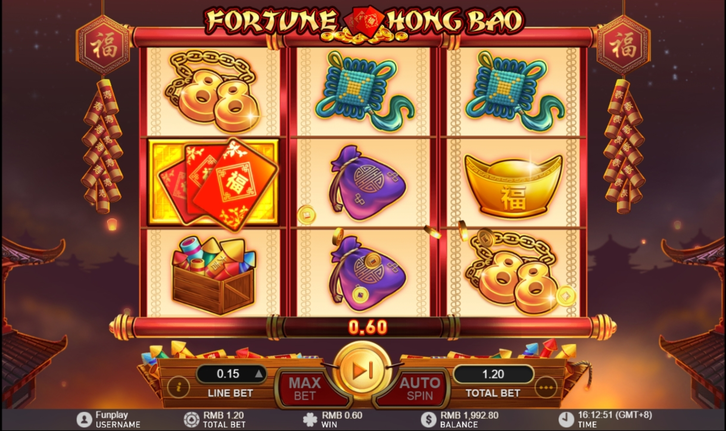 Win Money in Fortune Hong Bao Free Slot Game by Gameplay Interactive