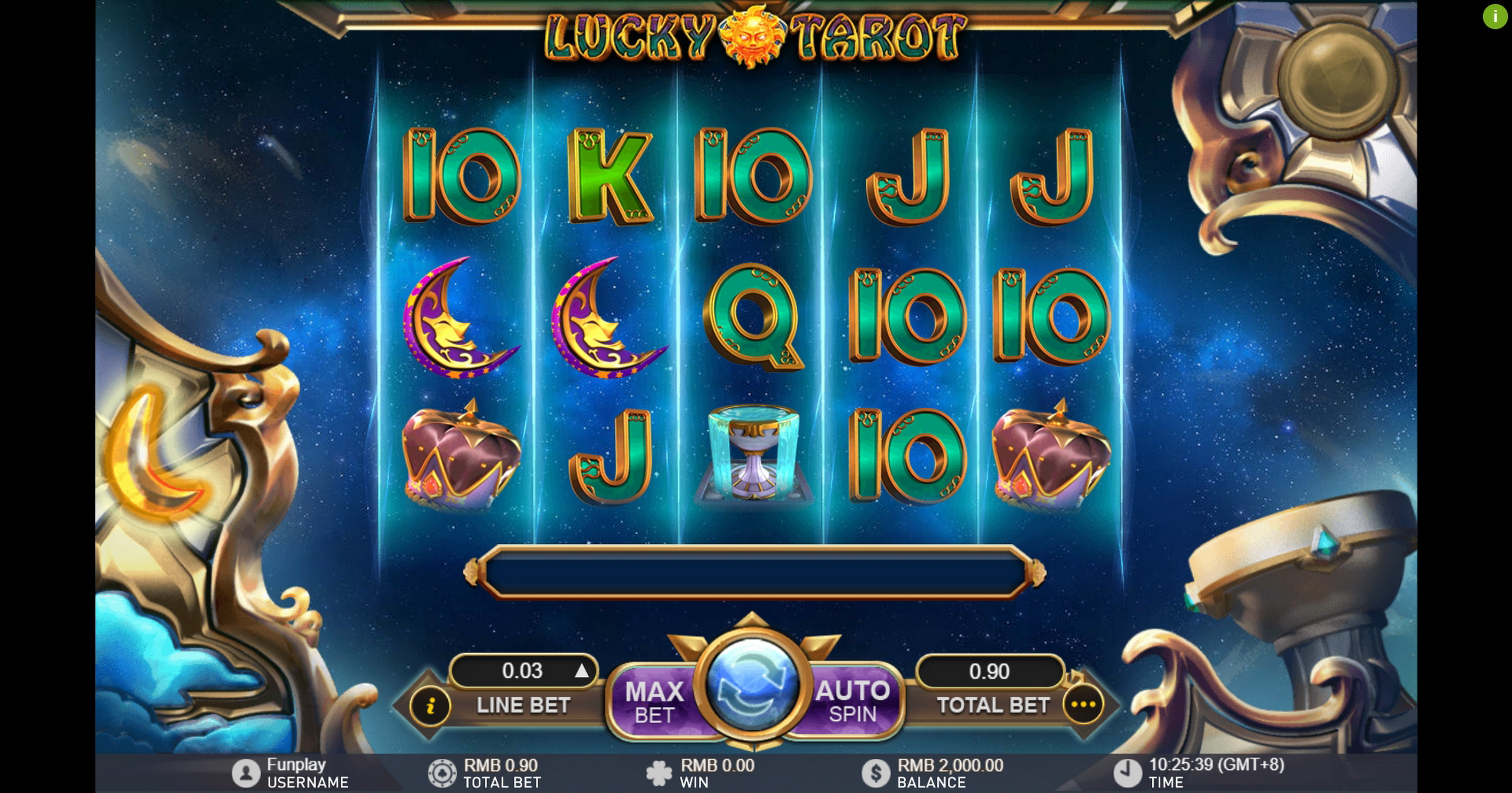 Reels in Lucky Tarot Slot Game by Gameplay Interactive