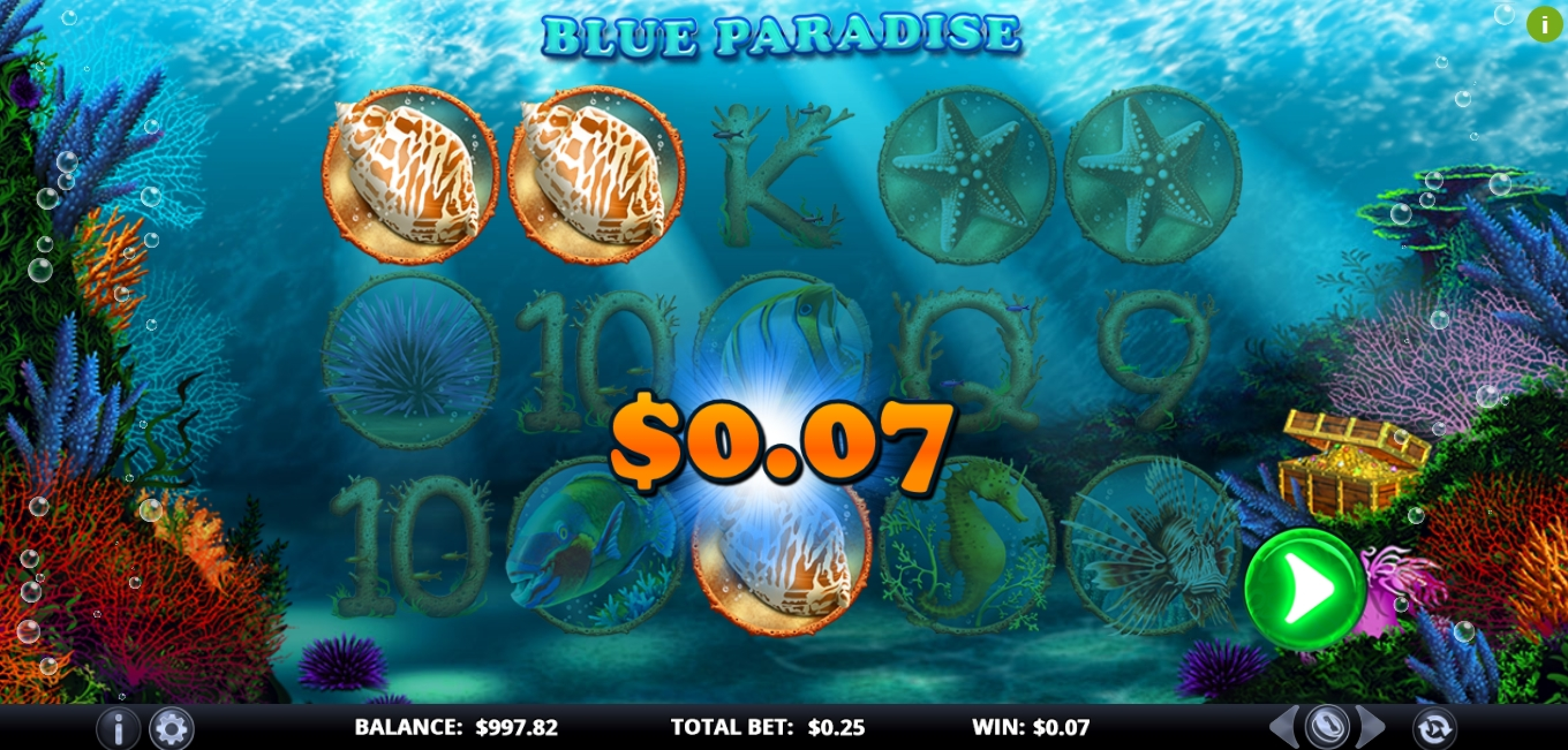 Win Money in Blue Paradise Free Slot Game by Games Lab