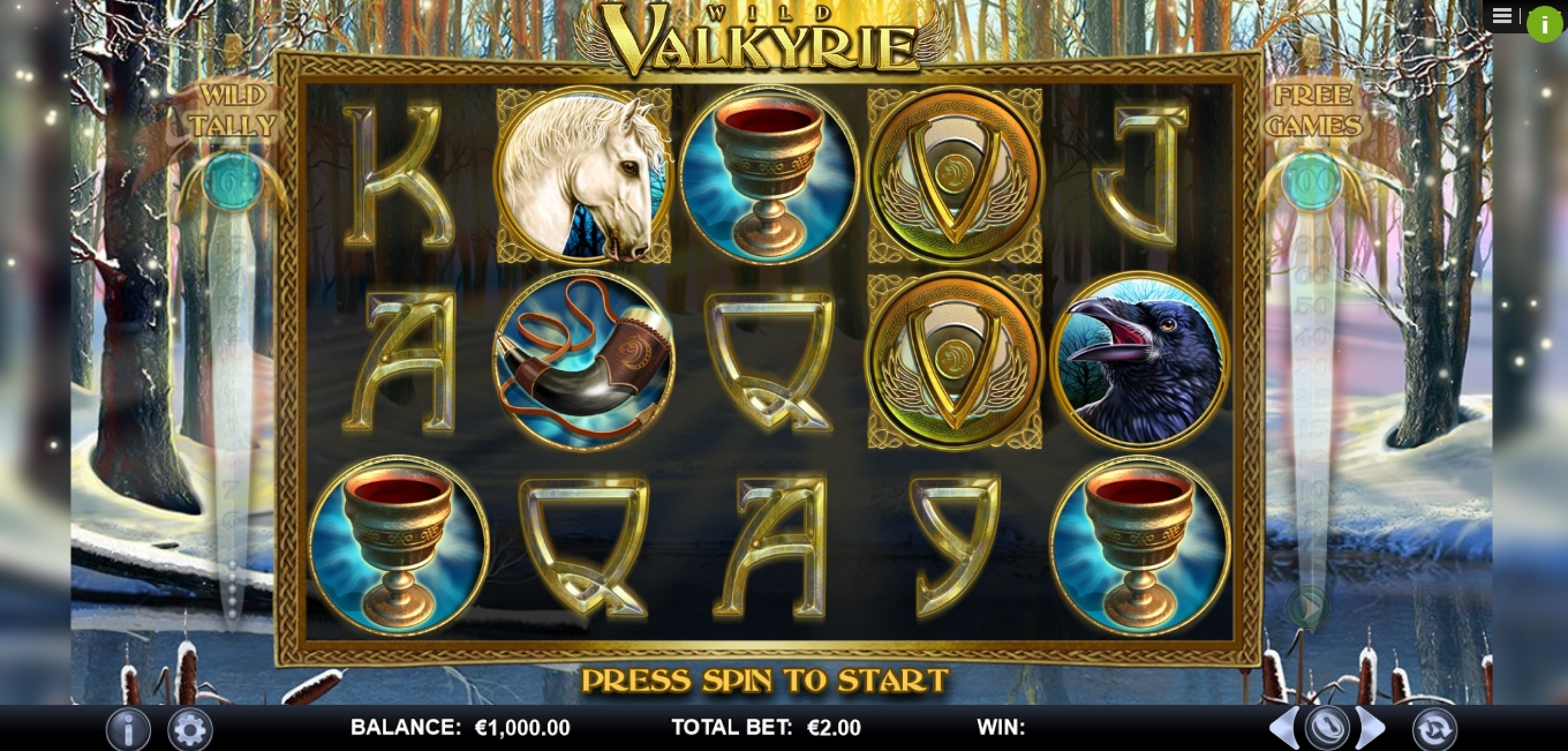 Reels in Wild Valkyrie Slot Game by Games Lab