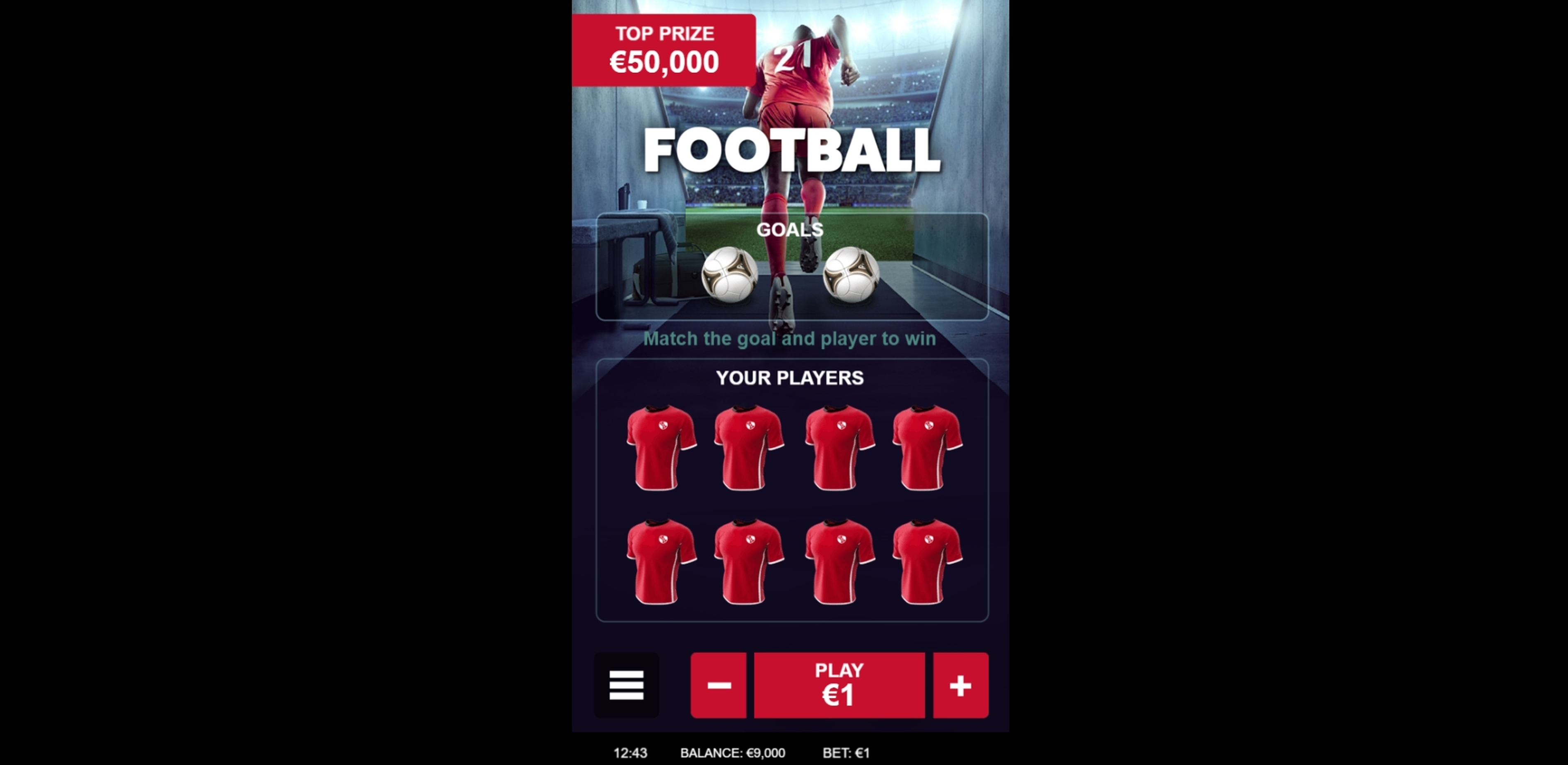 Reels in Football (gamevy) Slot Game by Gamevy