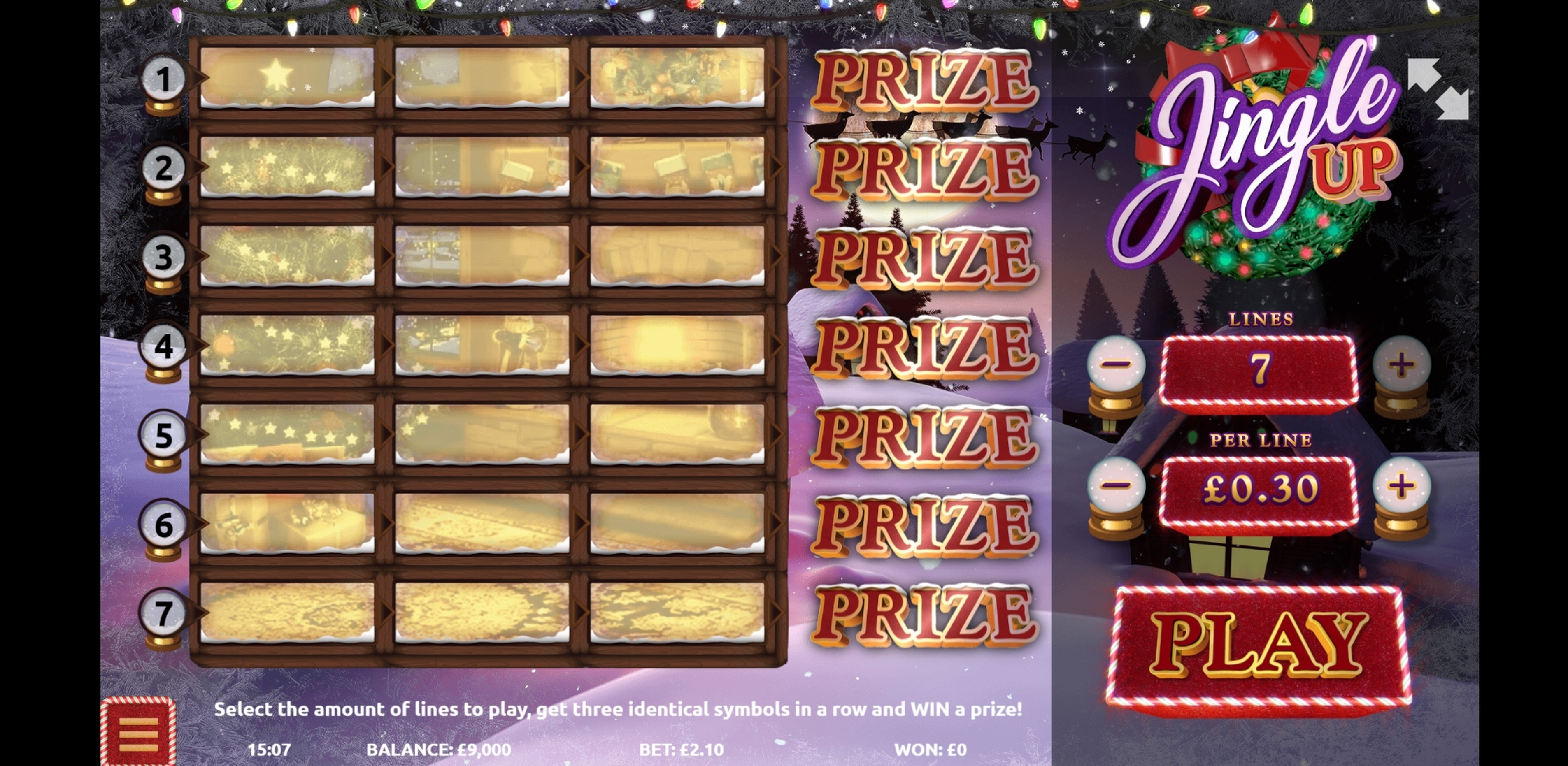 Reels in Jingle Up! Slot Game by Gamevy