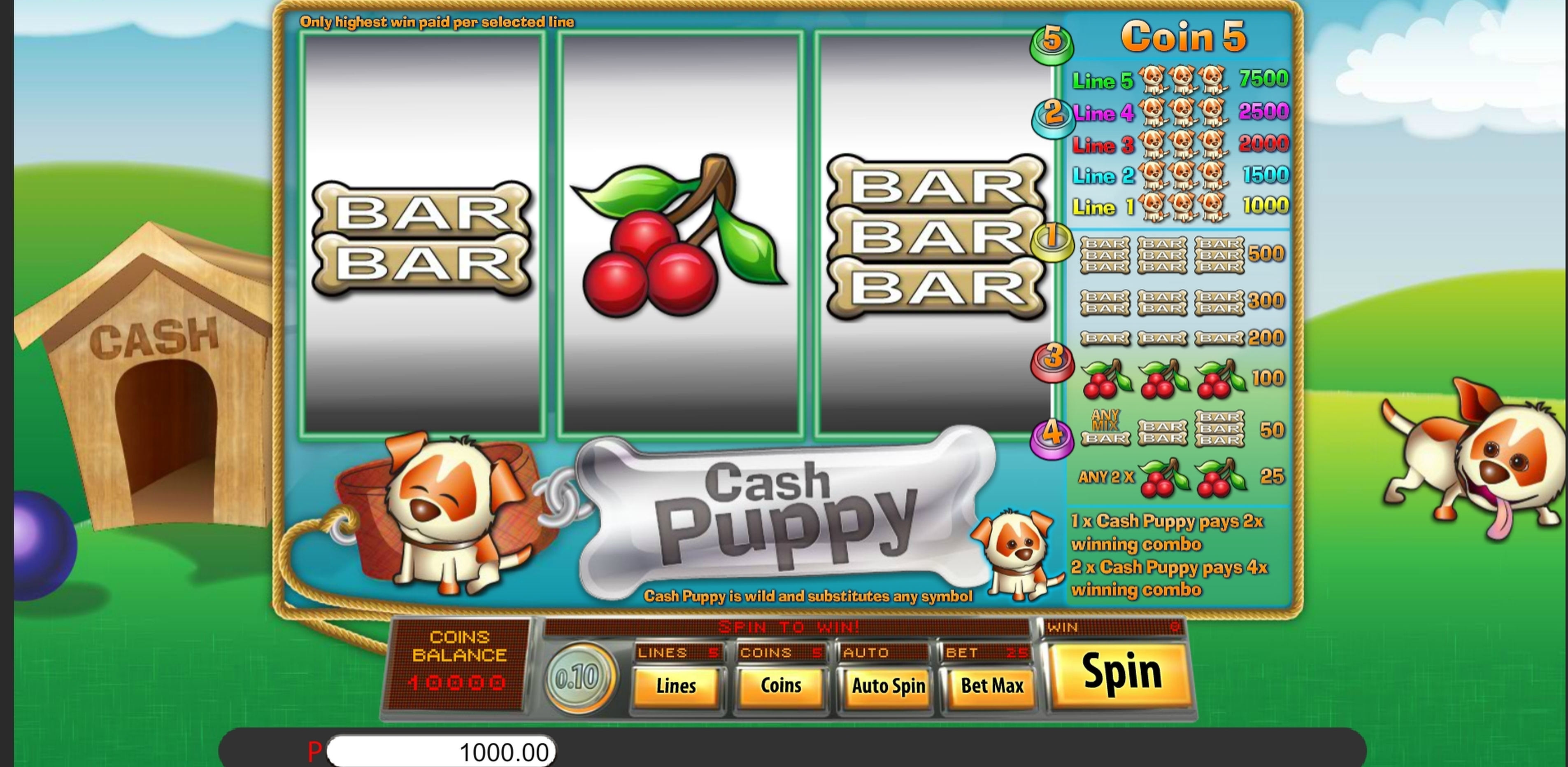 Reels in Cash Puppy Slot Game by Genii