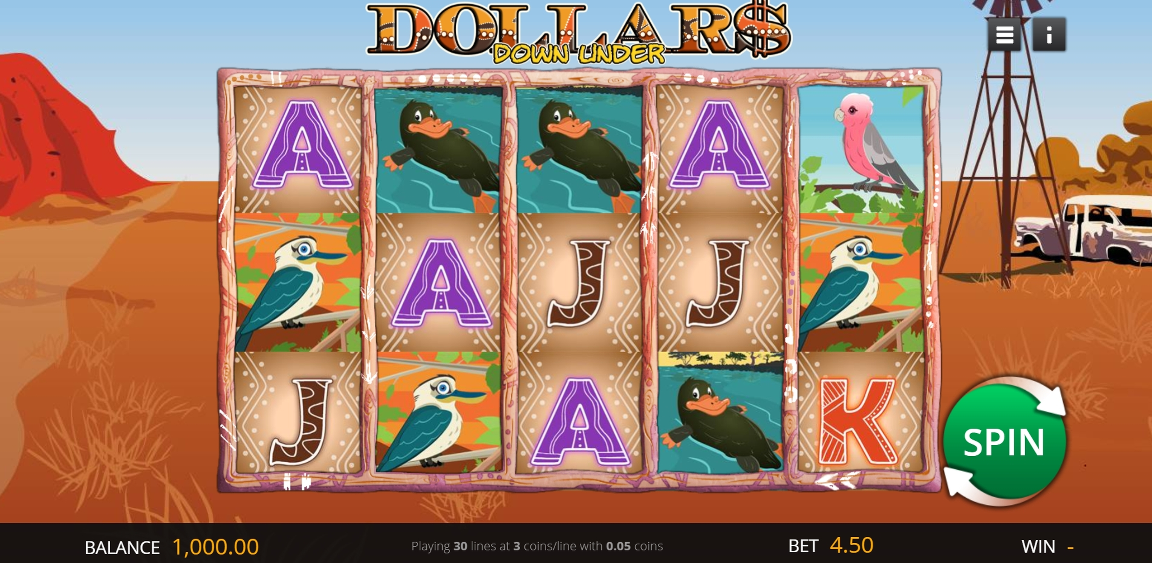 Reels in Dollars Down Under Slot Game by Genii