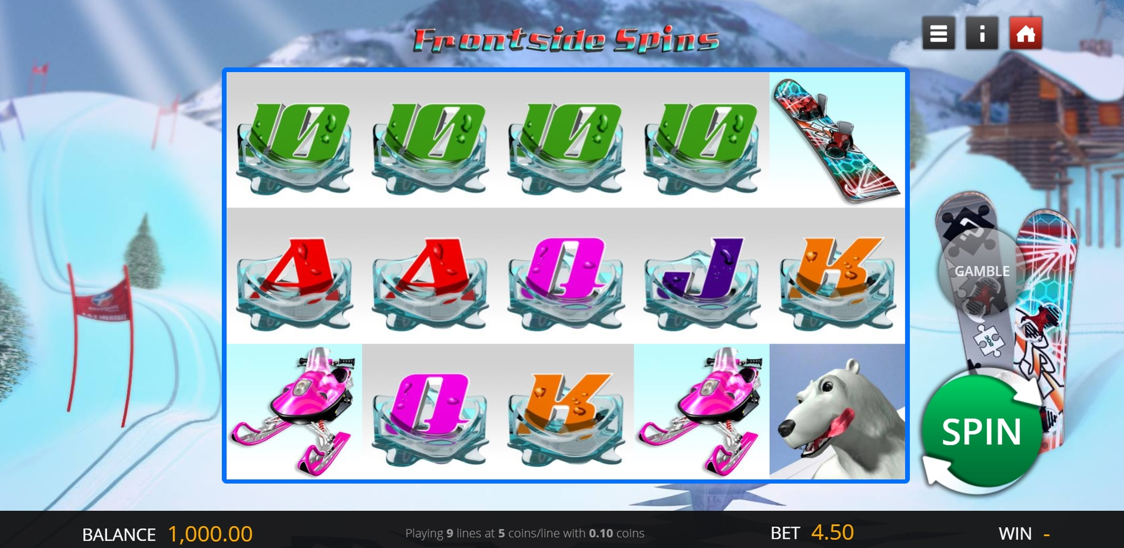 Reels in Frontside Spins Slot Game by Genii