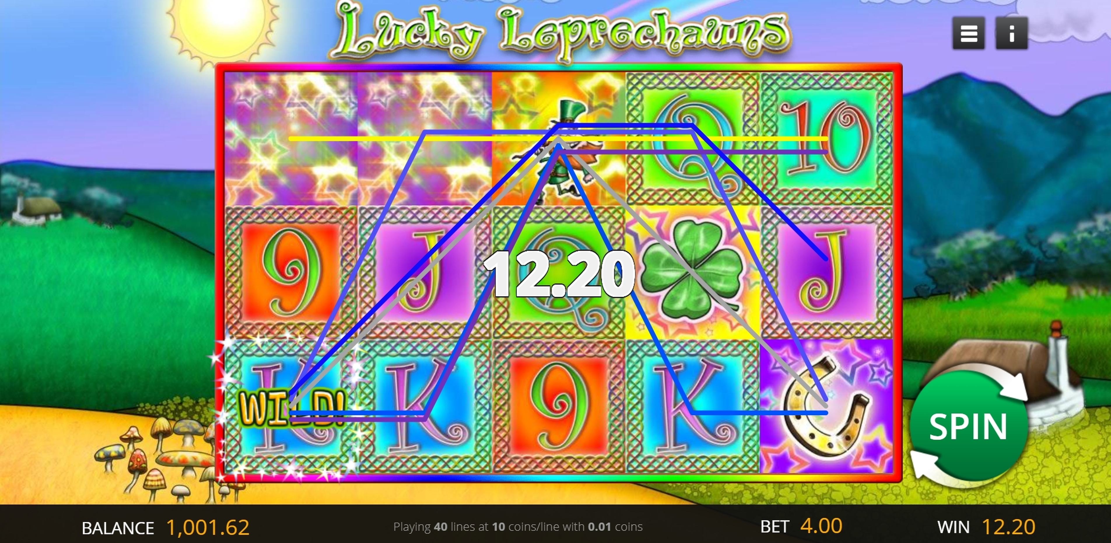 Win Money in Lucky Leprechauns Free Slot Game by Genii
