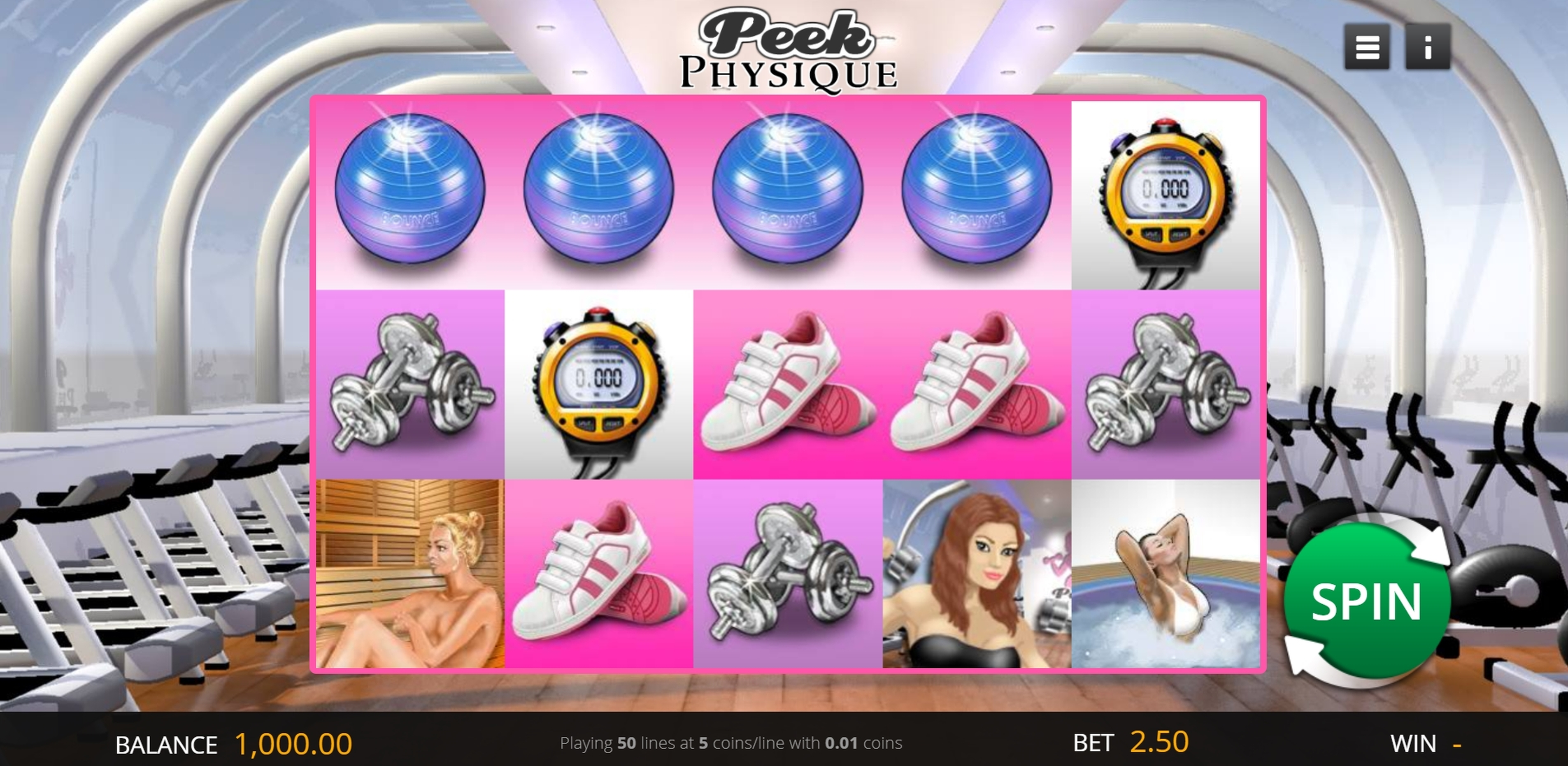 Reels in Peek Physique Slot Game by Genii