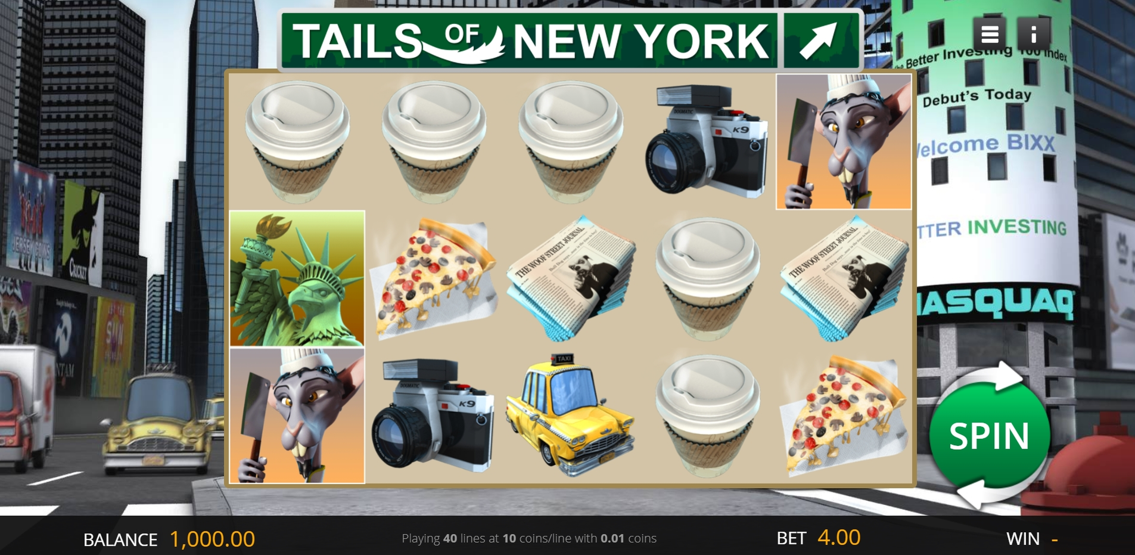 Reels in Tails Of New York Slot Game by Genii