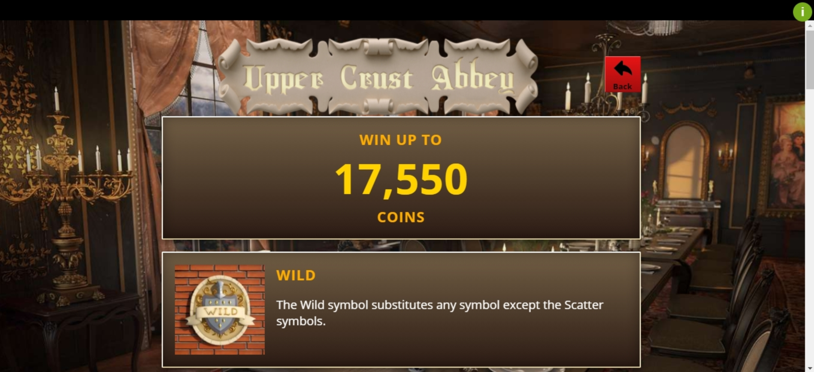 Info of Upper Crust Abbey Slot Game by Genii