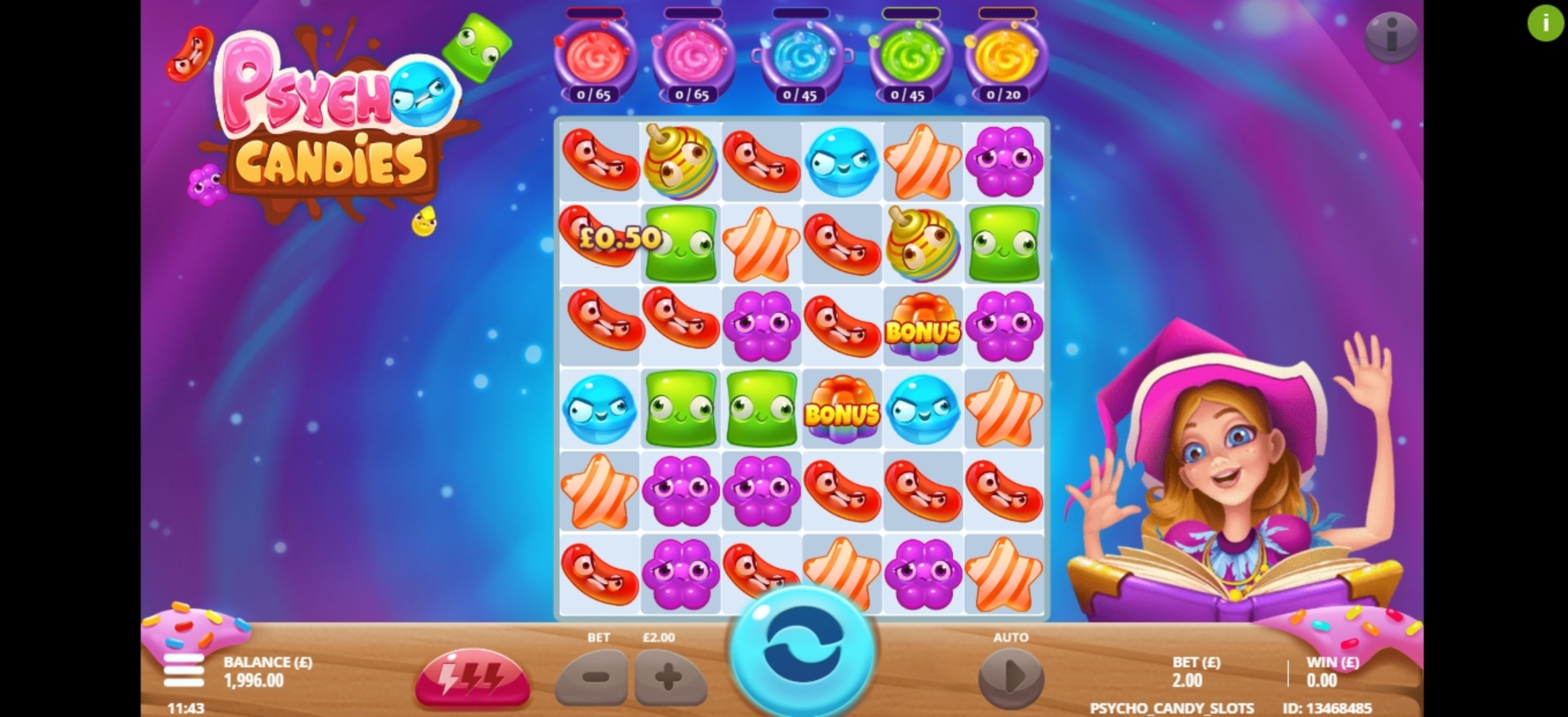 Win Money in Psycho Candies Free Slot Game by Gluck Games