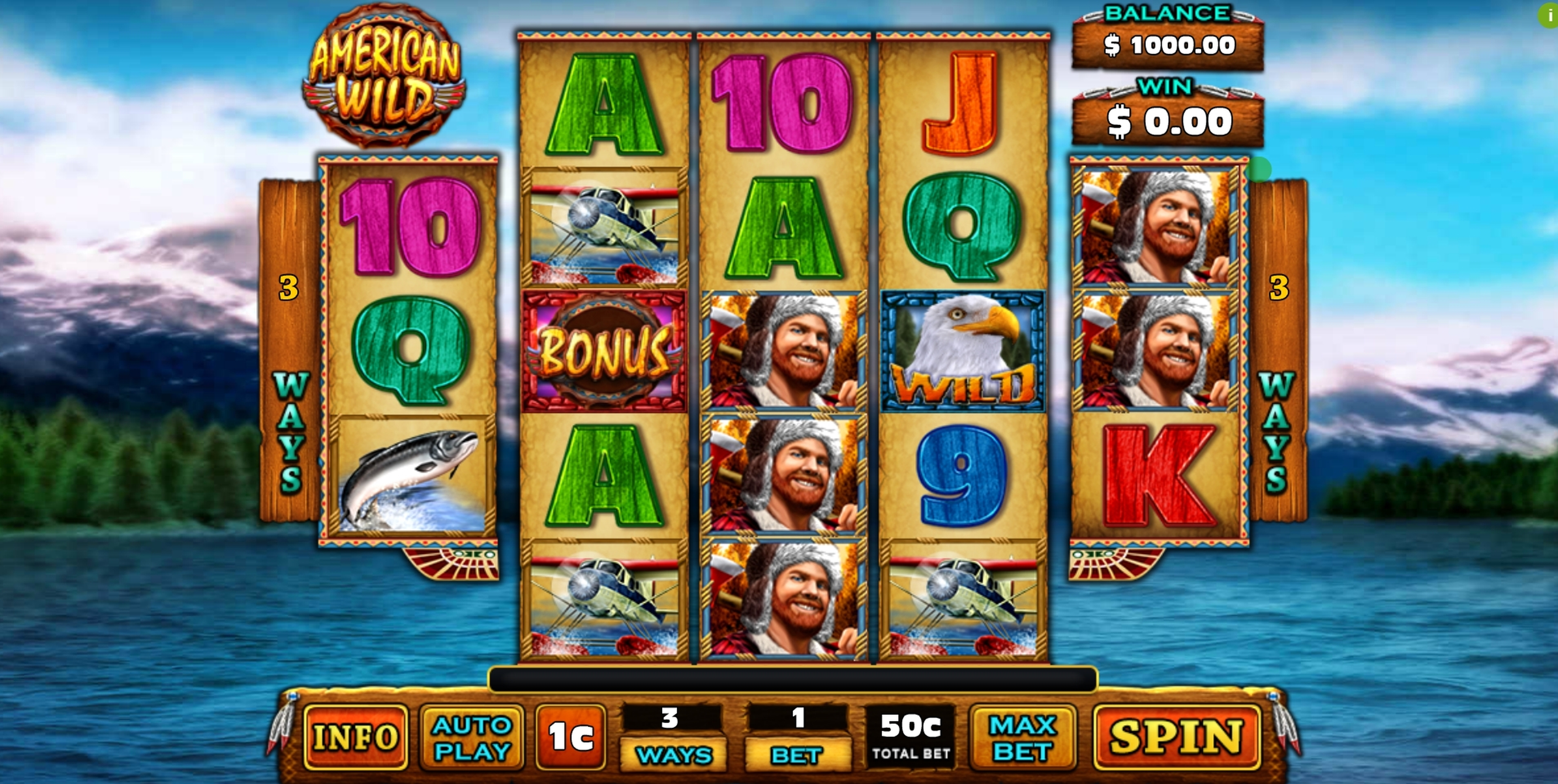 Reels in American Wild Slot Game by GMW