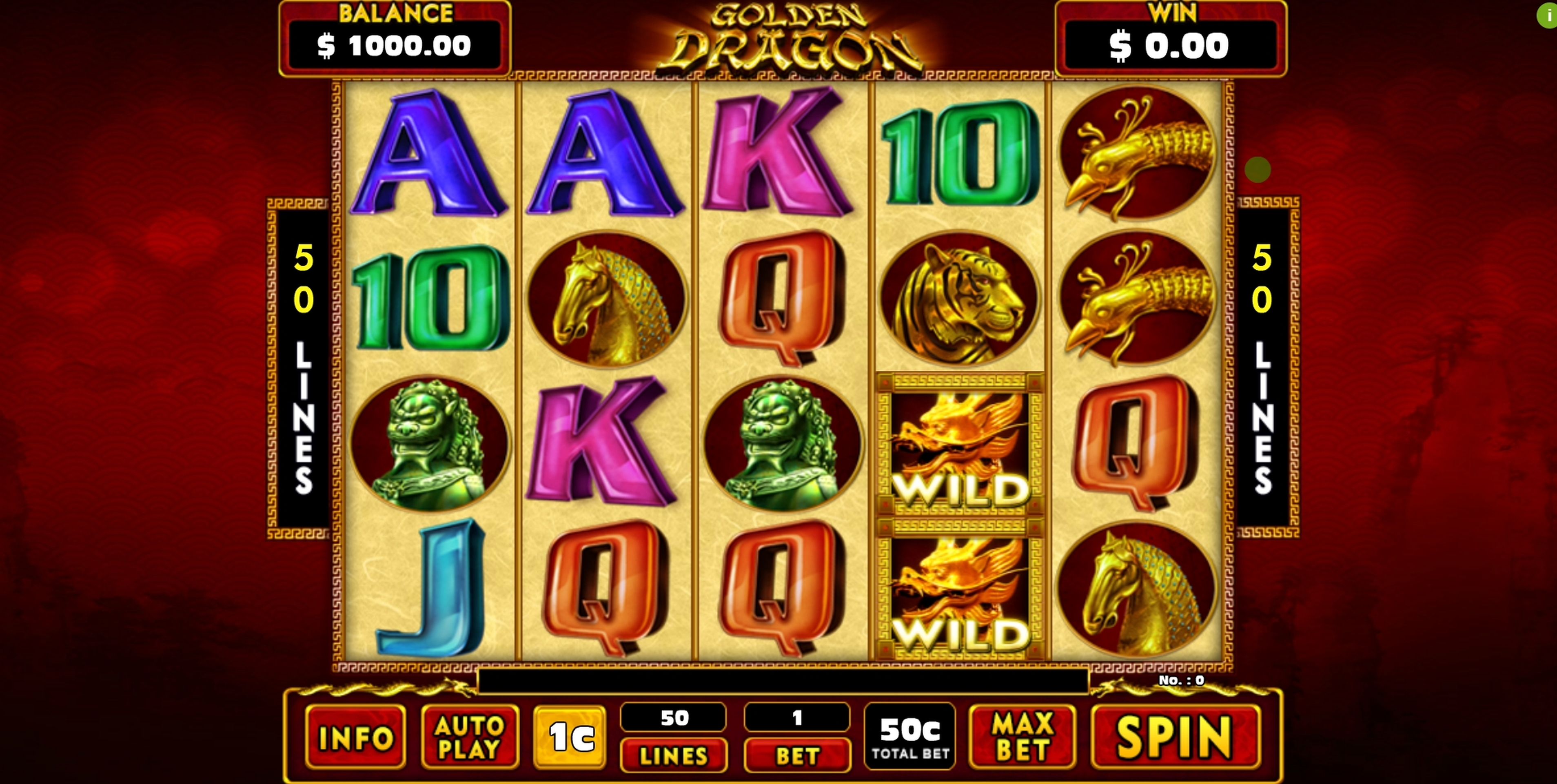 Reels in Golden Dragon (GMW) Slot Game by GMW