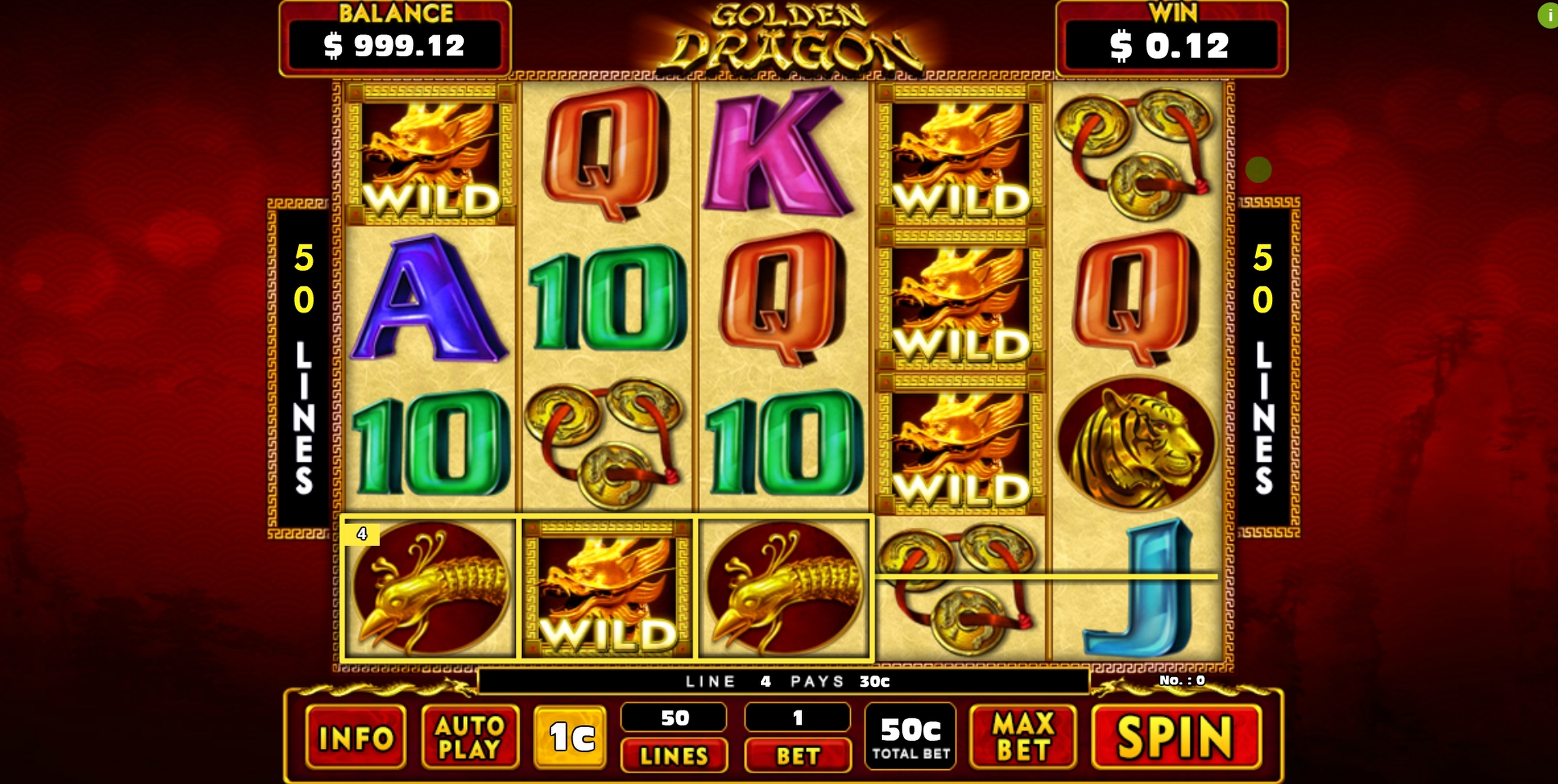 Win Money in Golden Dragon (GMW) Free Slot Game by GMW