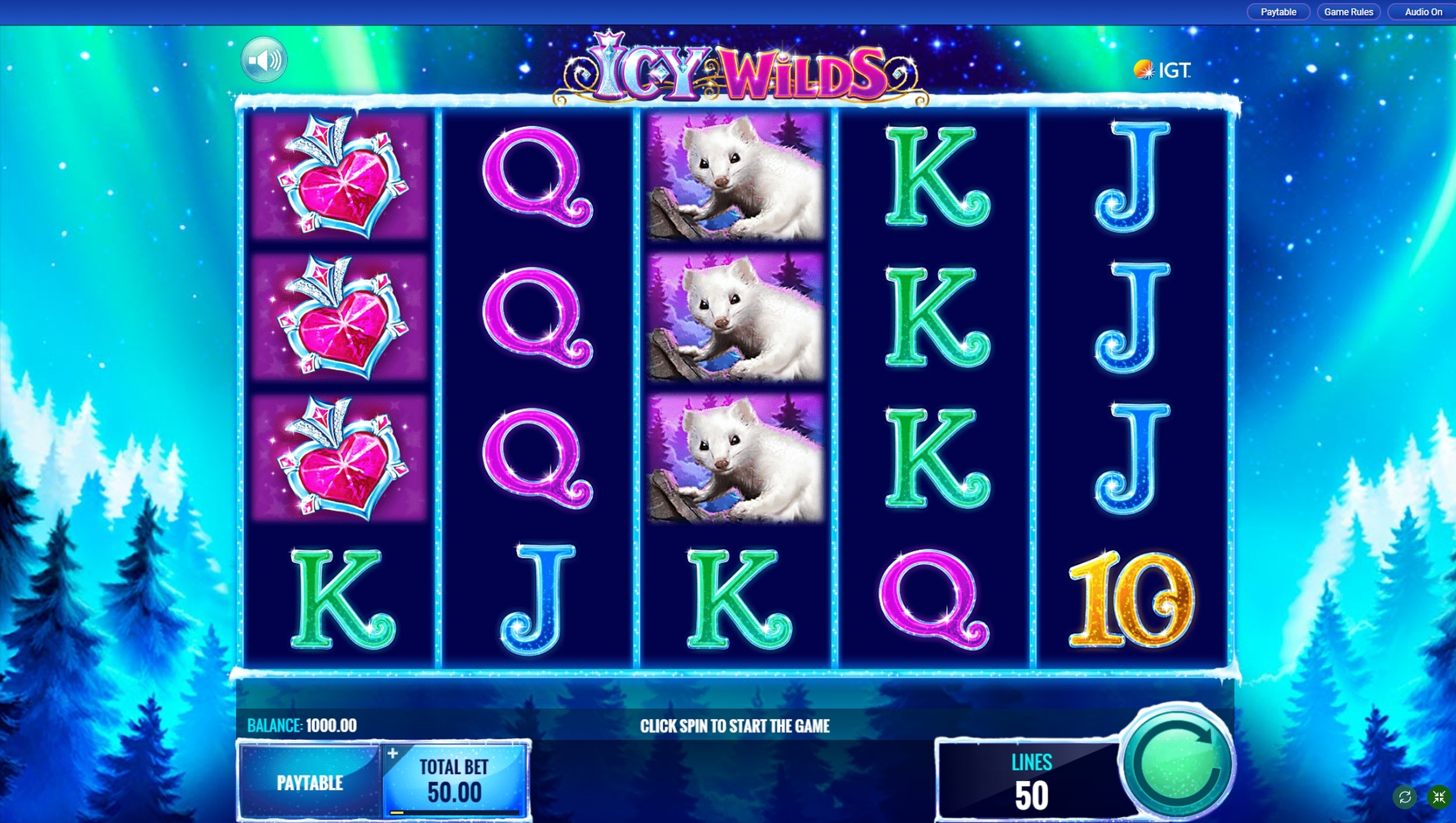Reels in Icy Wilds Slot Game by IGT