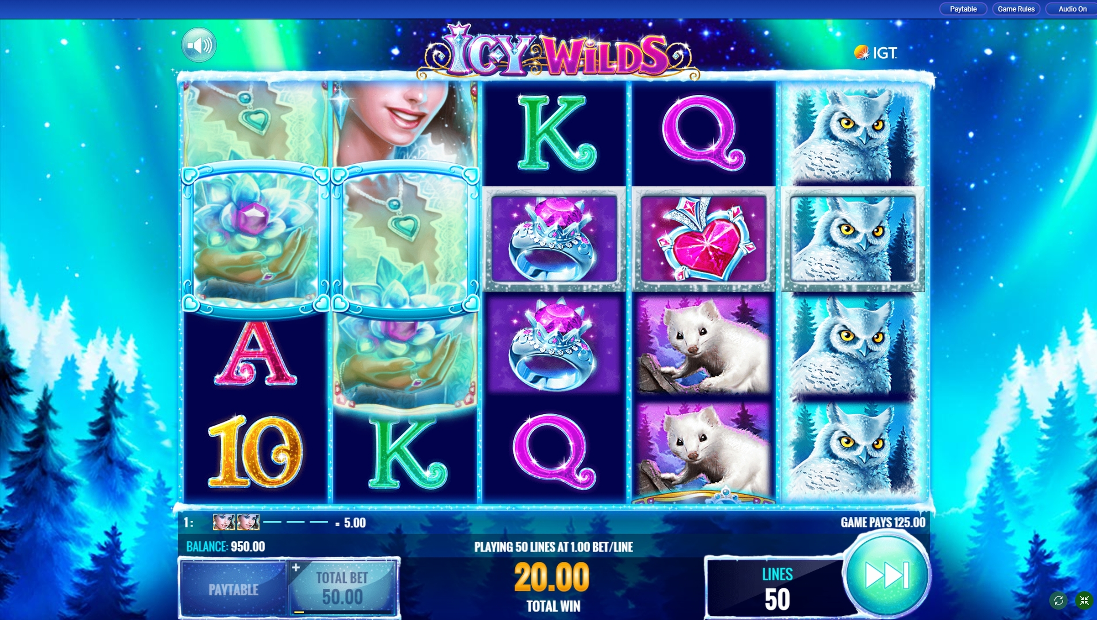 Win Money in Icy Wilds Free Slot Game by IGT