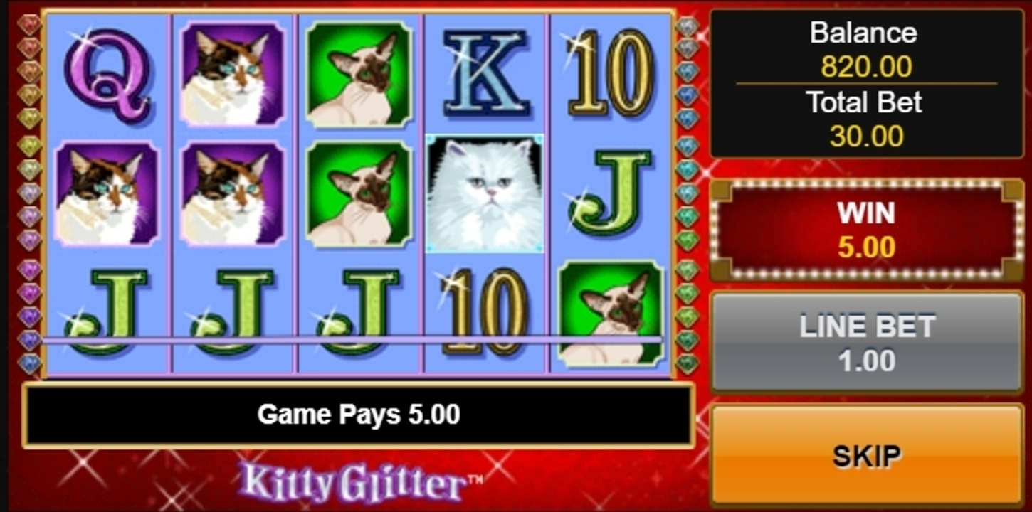 Win Money in Kitty Glitter Free Slot Game by IGT