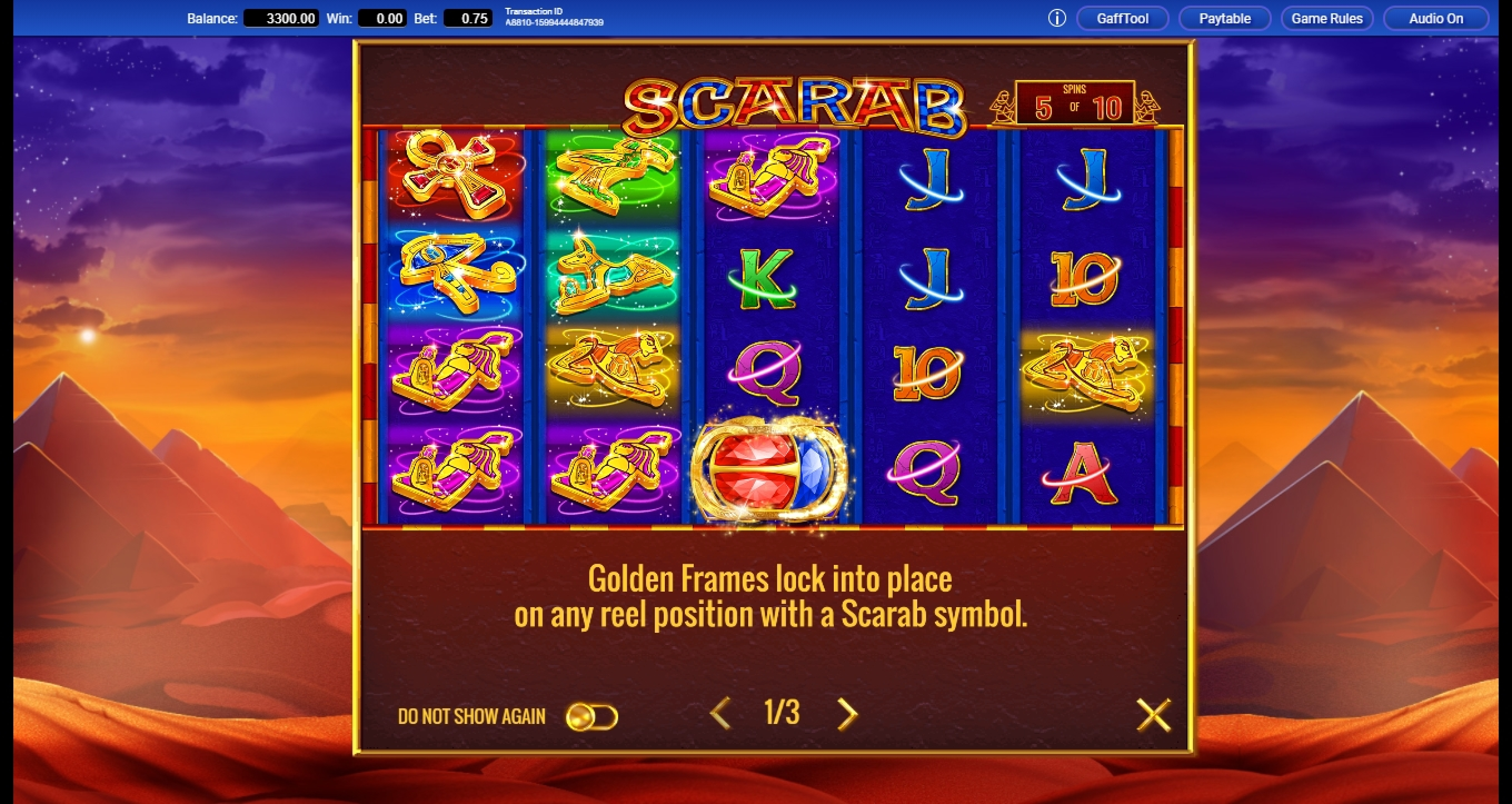 Play Scarab Free Casino Slot Game by IGT