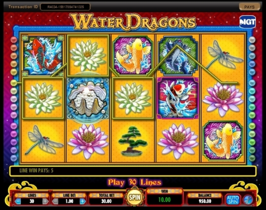 Win Money in Water Dragons Free Slot Game by IGT