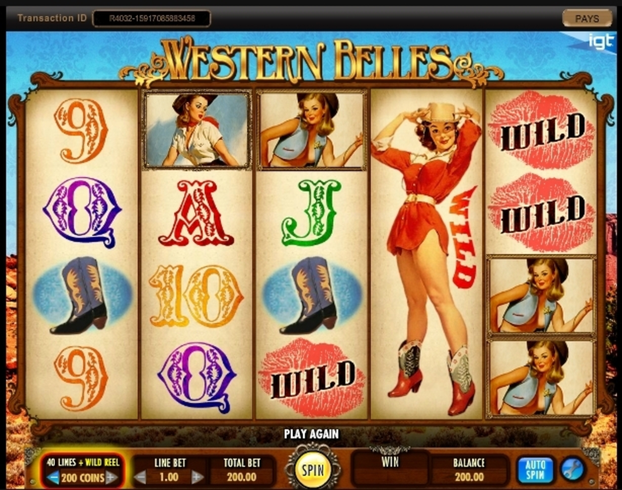 Reels in Western Belles Slot Game by IGT