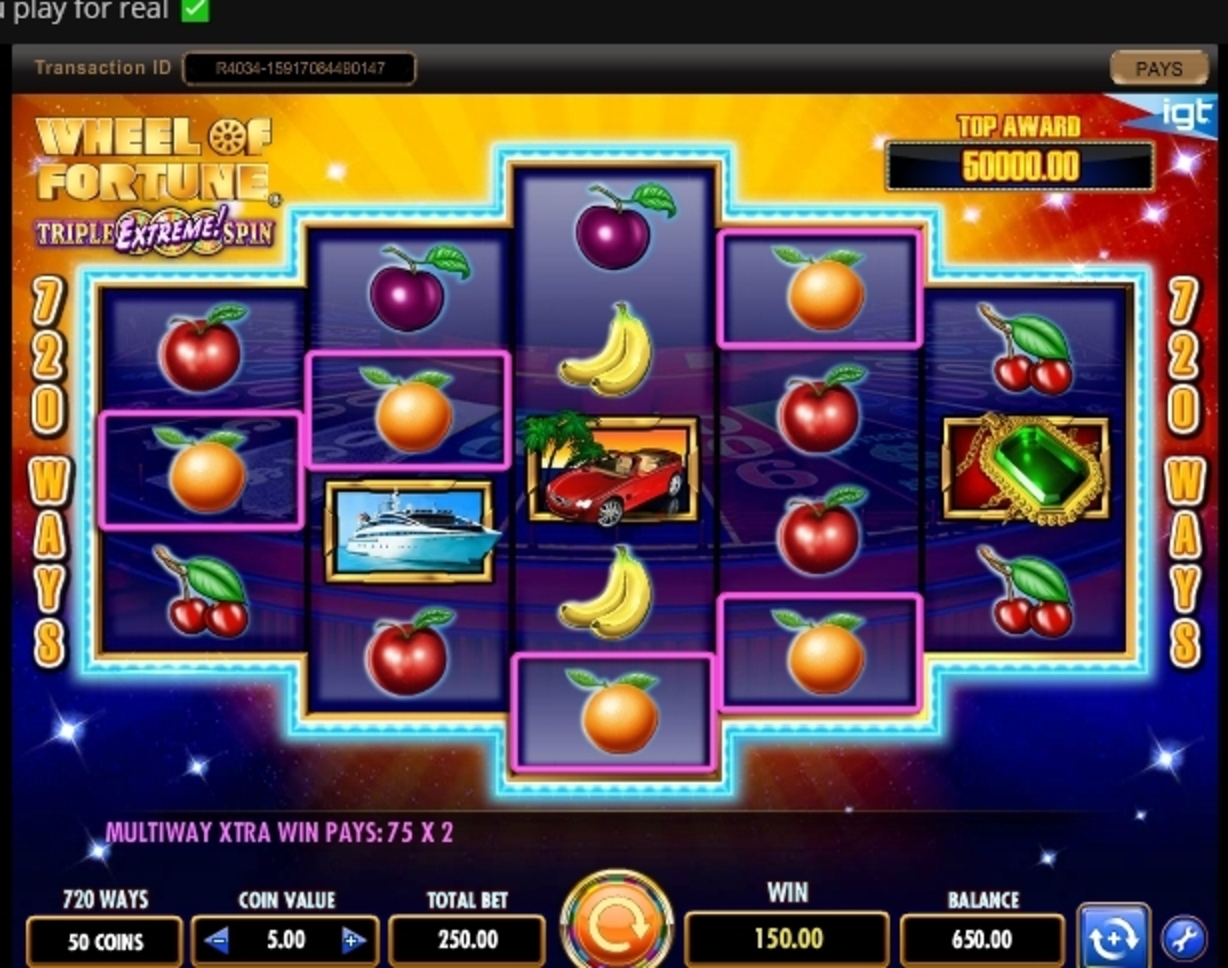 Win Money in Wheel of Fortune Triple Extreme Spin Free Slot Game by IGT