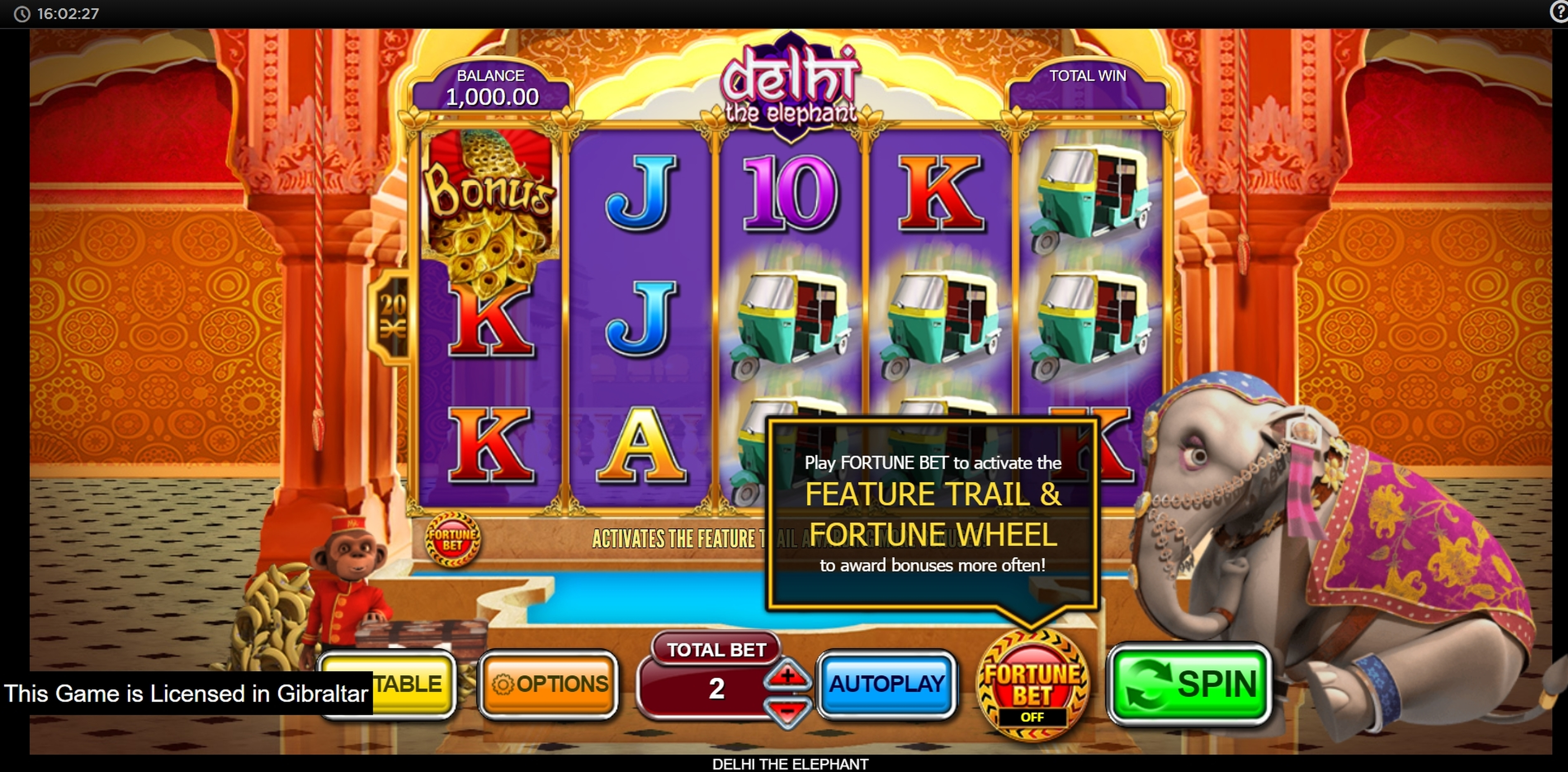 Reels in Delhi the Elephant Slot Game by Inspired Gaming