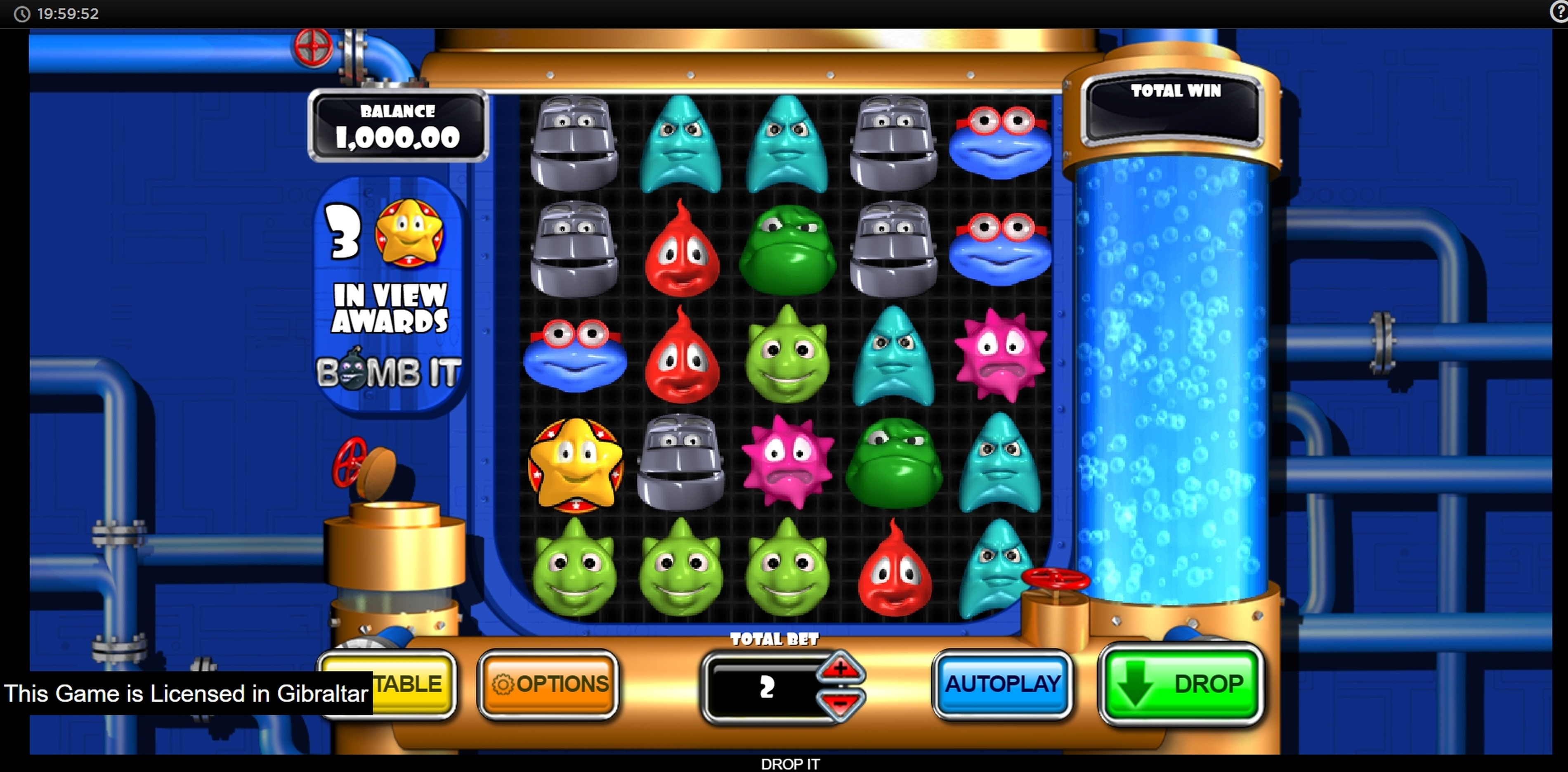 Reels in Drop It! Slot Game by Inspired Gaming