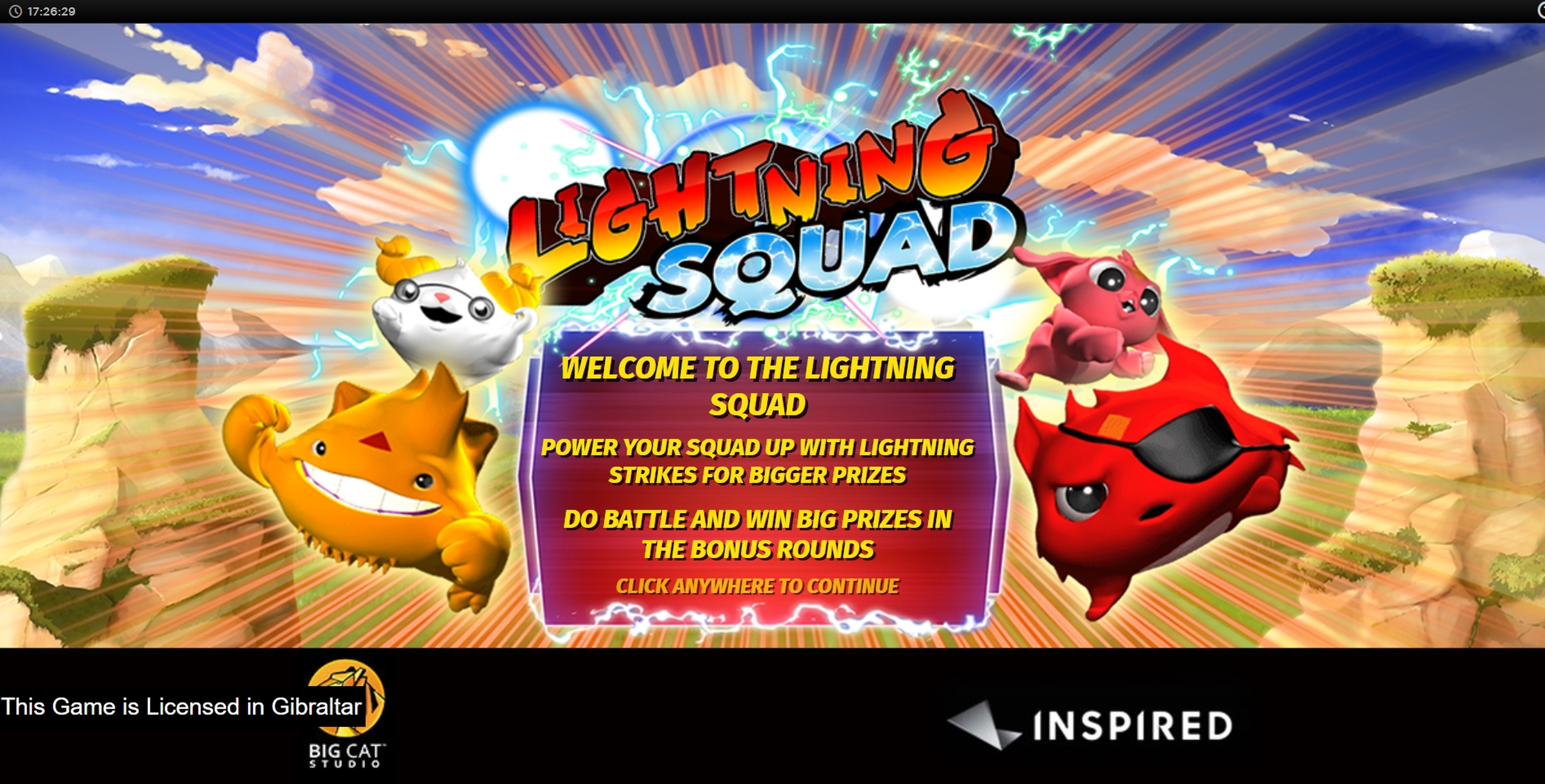 Play Lightning Squad Free Casino Slot Game by Inspired Gaming