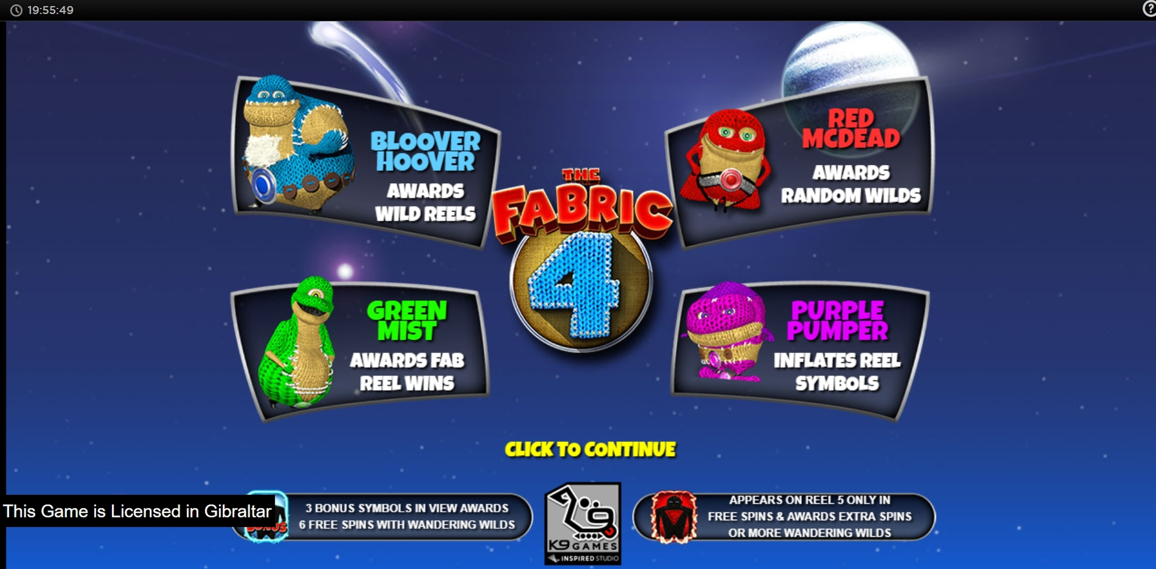 Play The Fabric 4 Free Casino Slot Game by Inspired Gaming