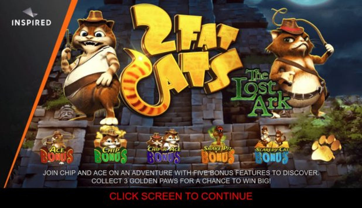 The Two Fat Cats The Lost Ark Online Slot Demo Game by Inspired Gaming