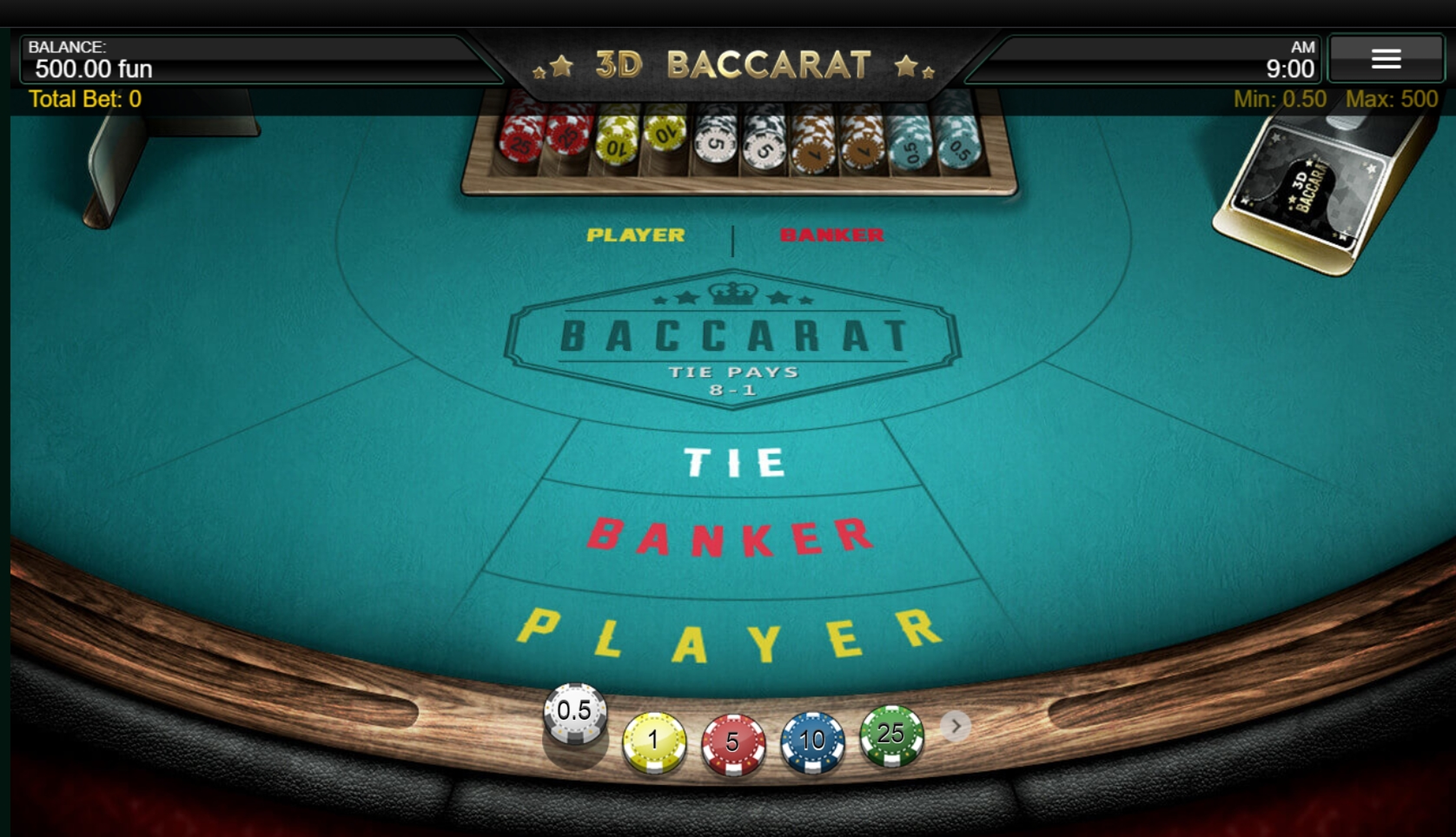 Reels in 3D Baccarat Slot Game by IronDog