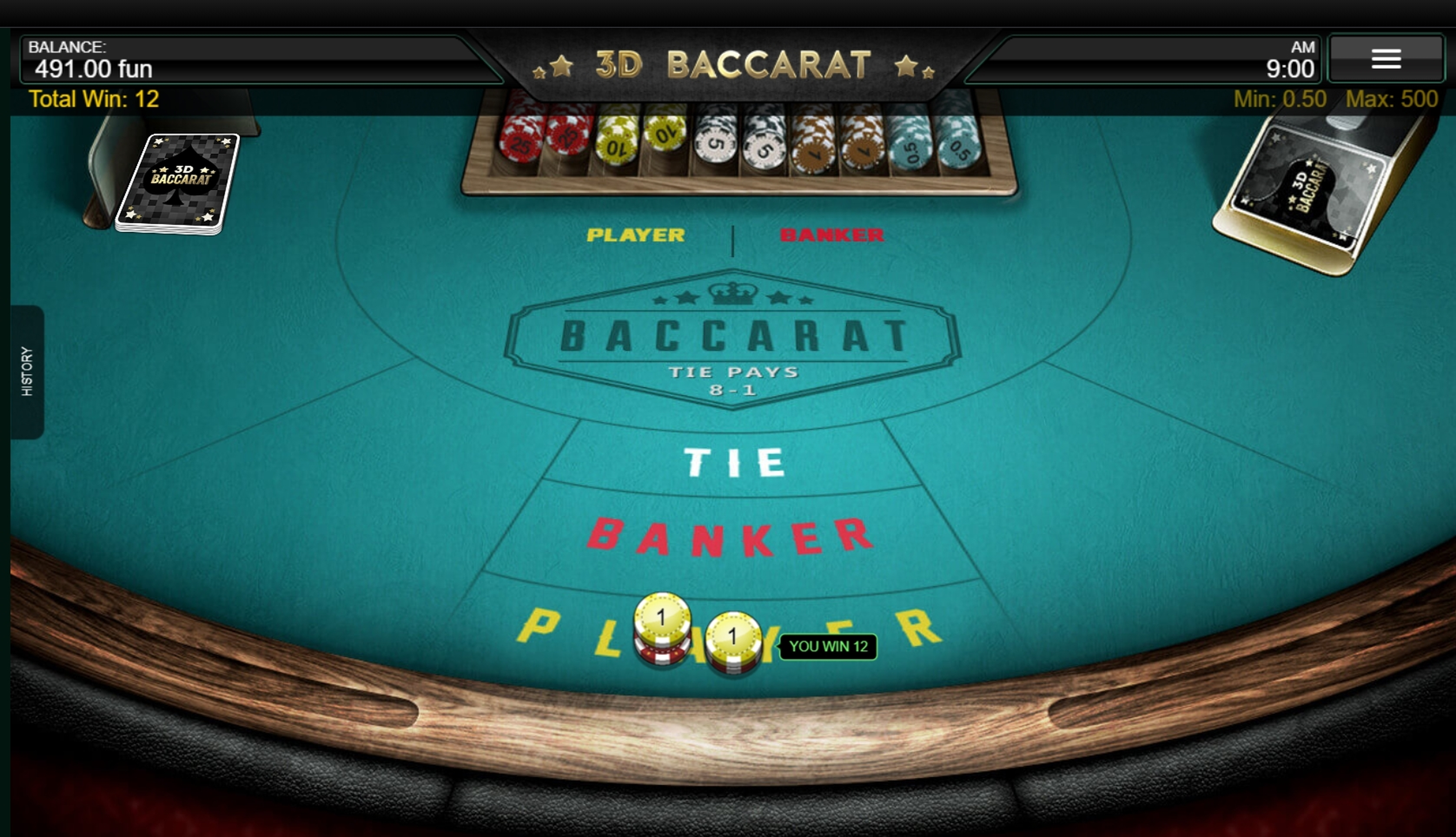 Win Money in 3D Baccarat Free Slot Game by IronDog