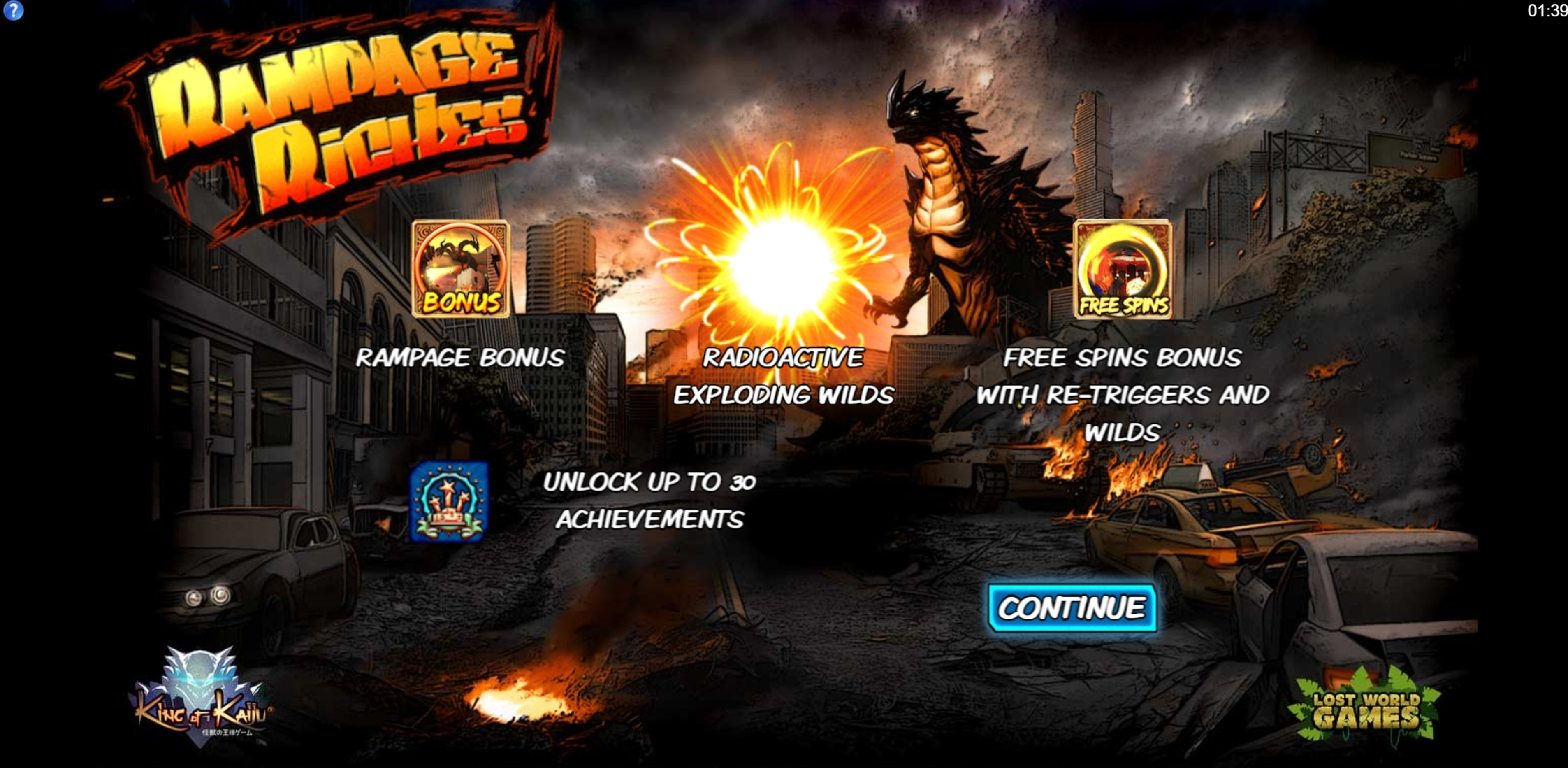 Play King of Kaiju: Rampage Riches Free Casino Slot Game by Lost World Games