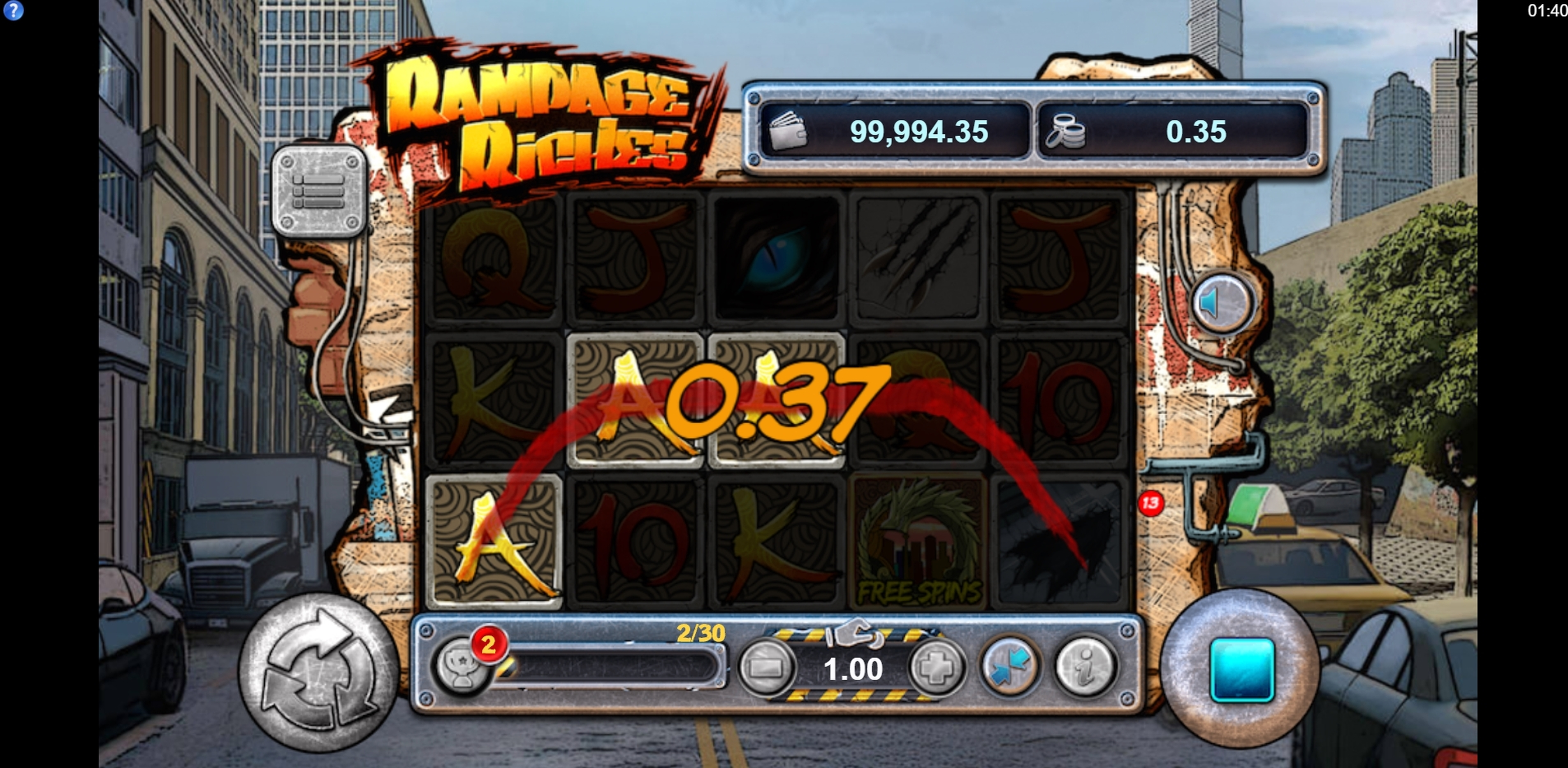 Win Money in King of Kaiju: Rampage Riches Free Slot Game by Lost World Games
