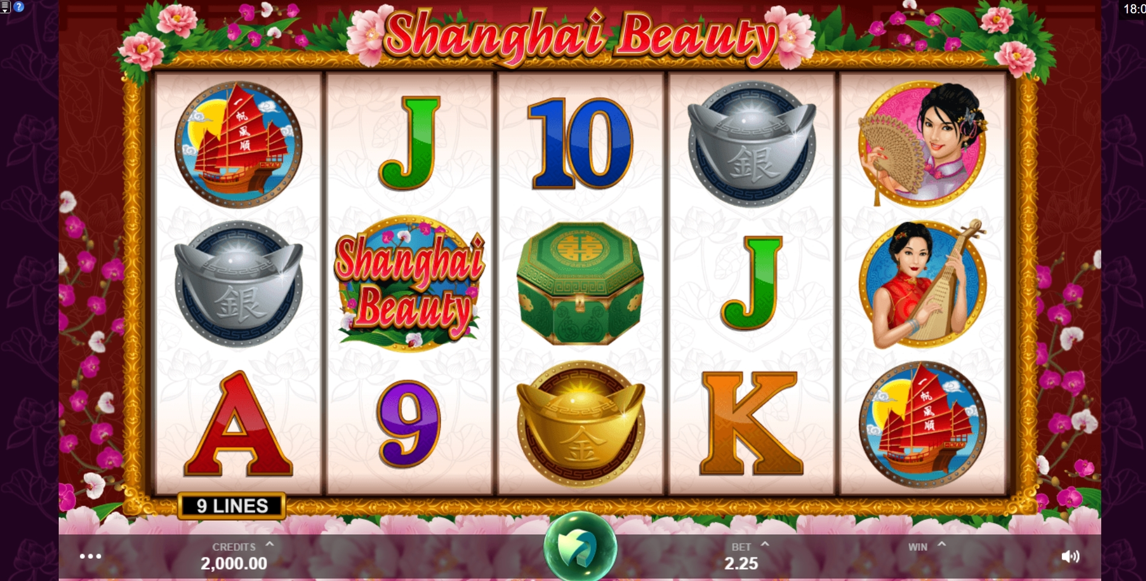 Reels in Shanghai Beauty Slot Game by MahiGaming