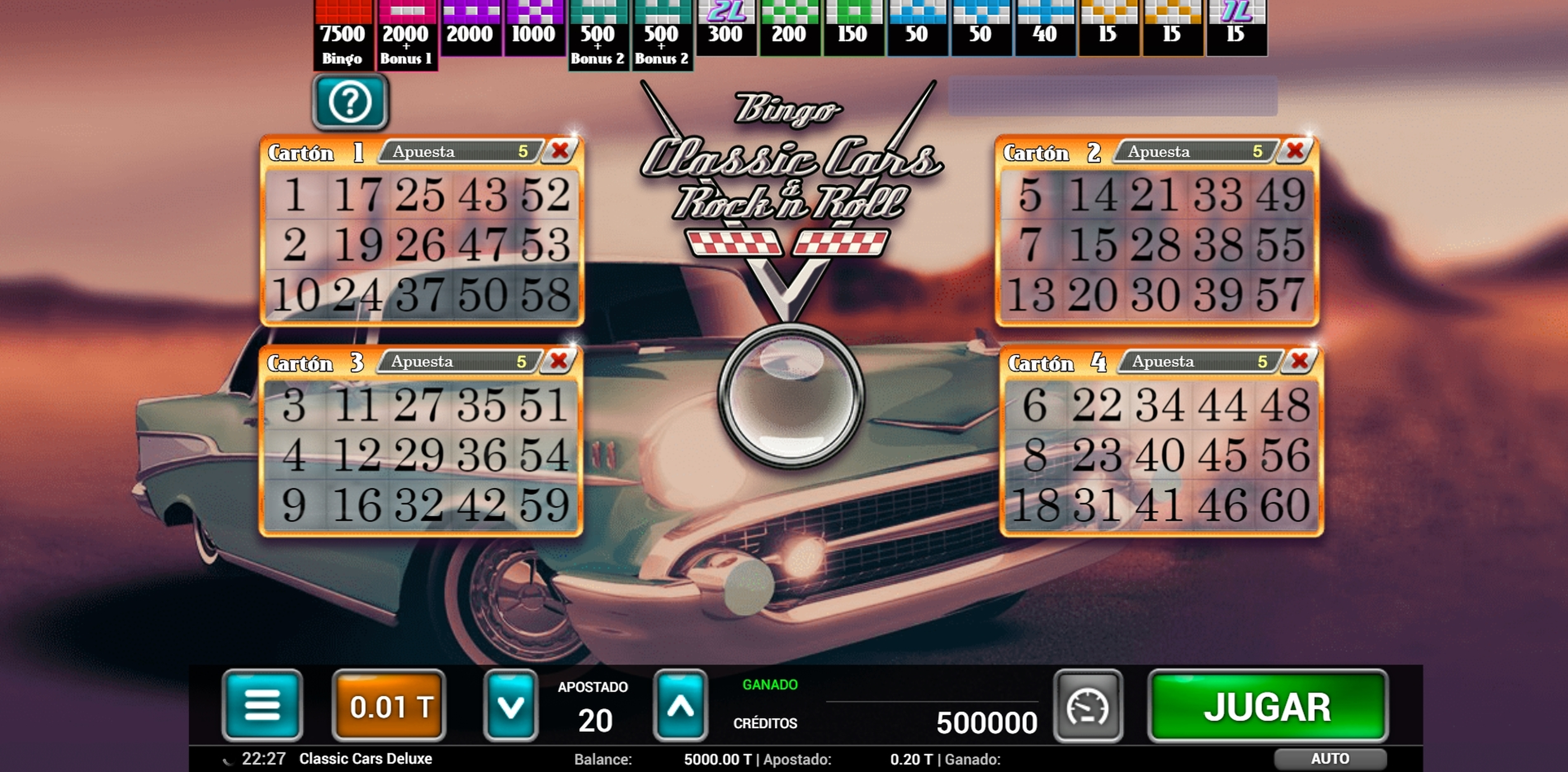 Reels in Classic Cars Bingo Slot Game by MGA