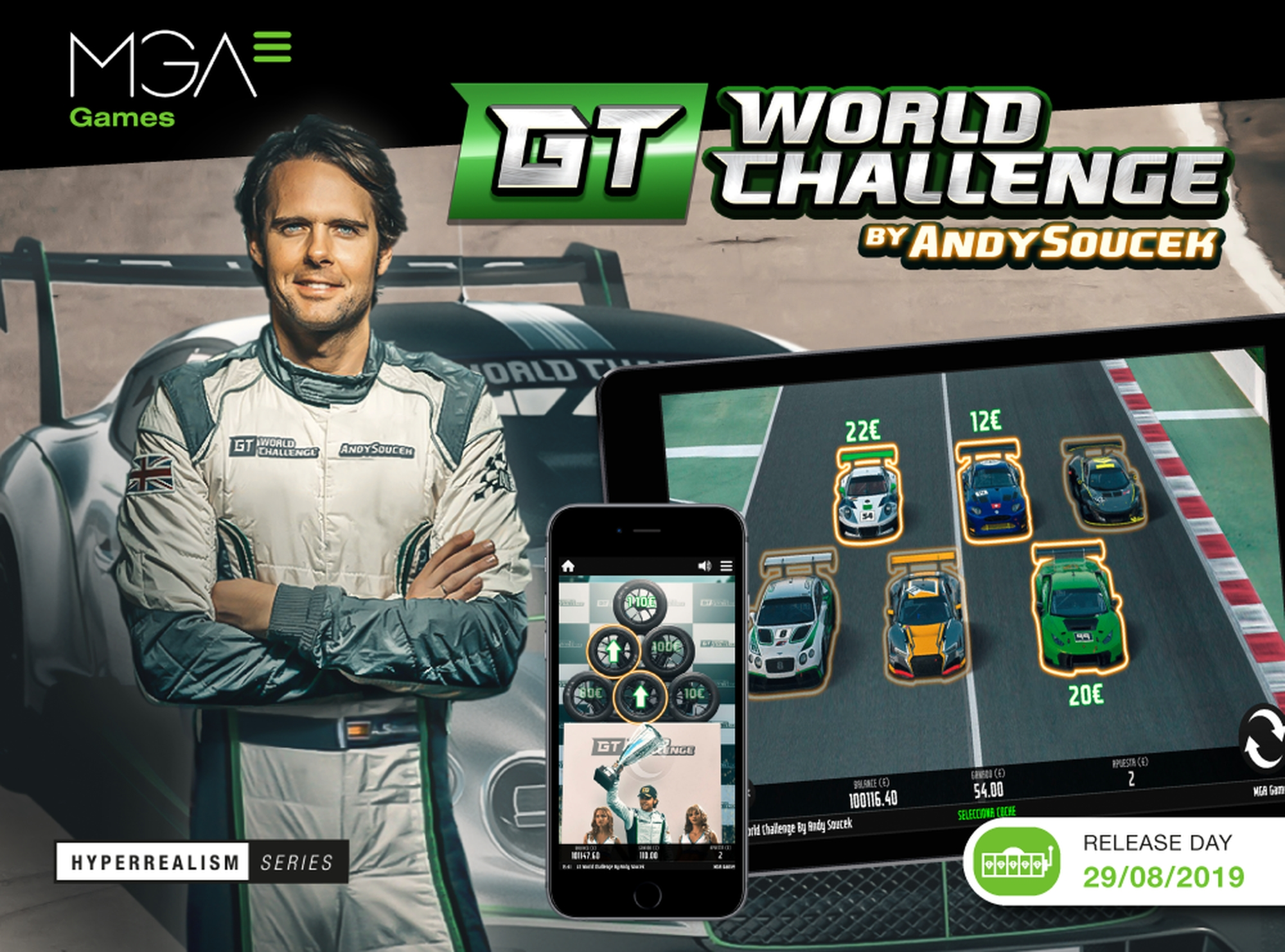 The GT World Challenge by Andy Soucek Online Slot Demo Game by MGA