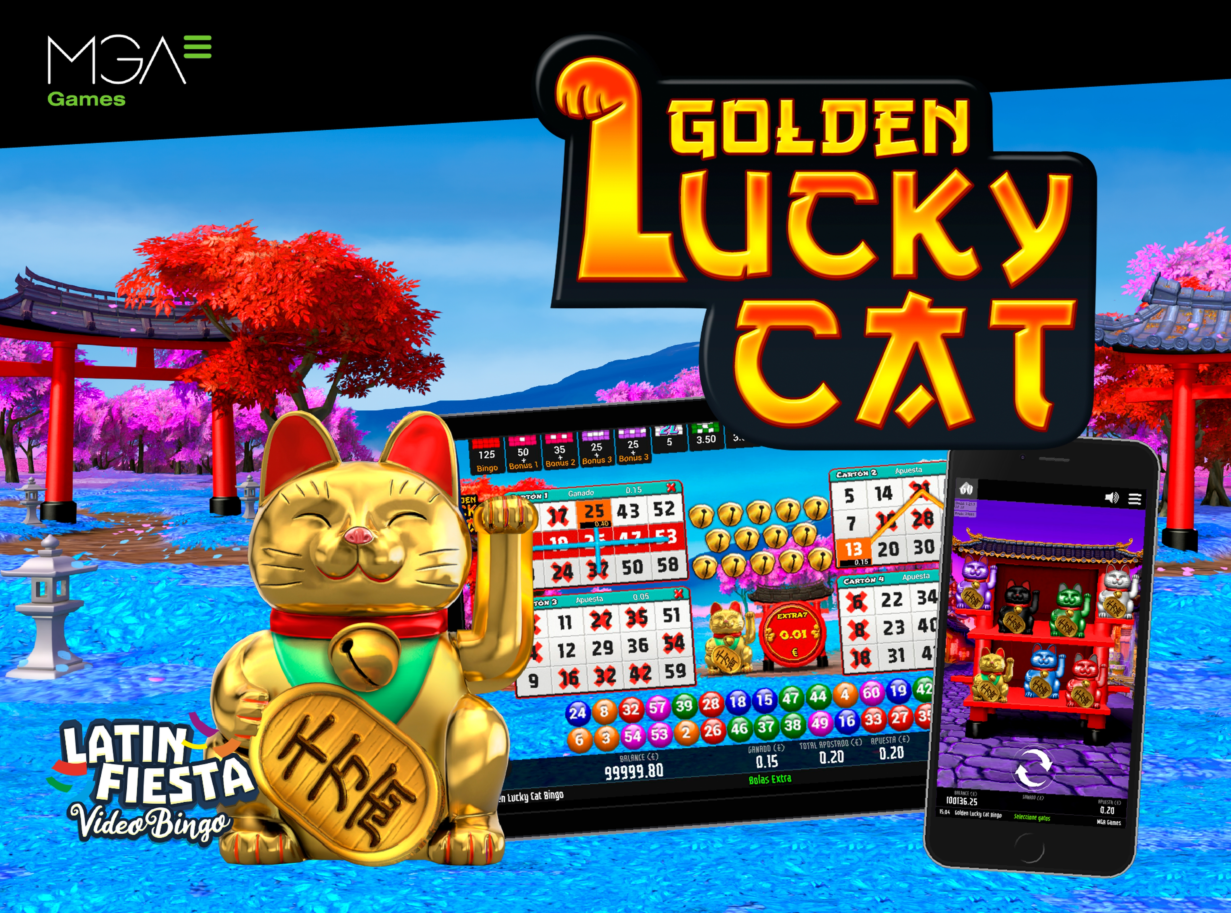 The Golden Lucky Cat Bingo Online Slot Demo Game by MGA