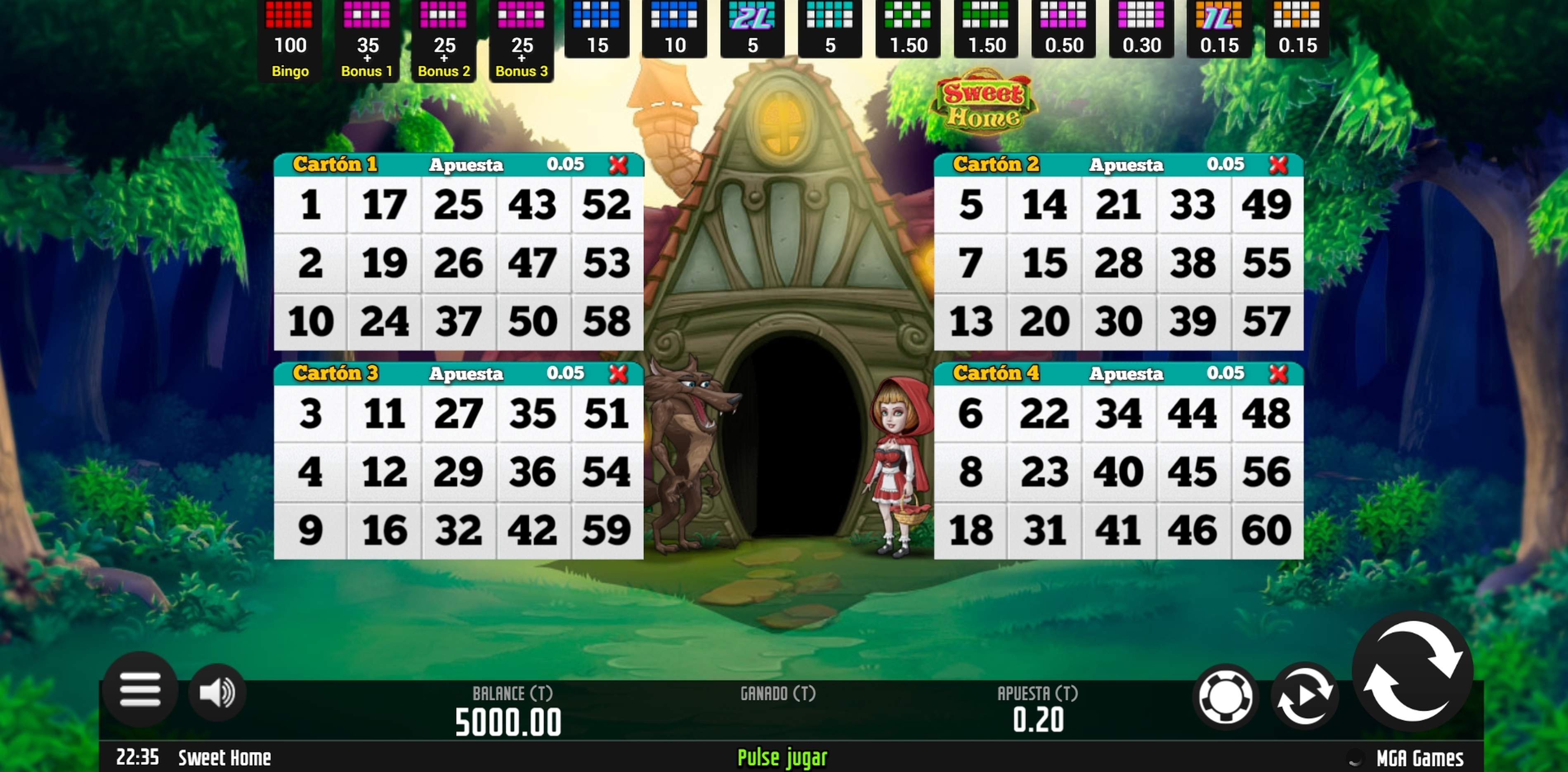 Reels in Sweet Home Bingo Slot Game by MGA