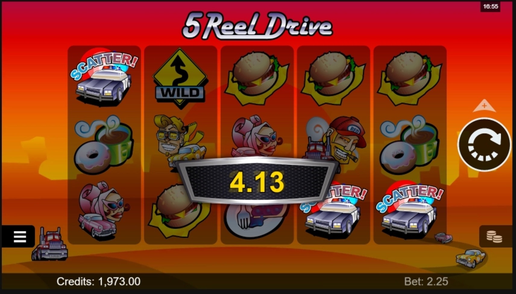 Win Money in 5 Reel Drive Free Slot Game by Microgaming