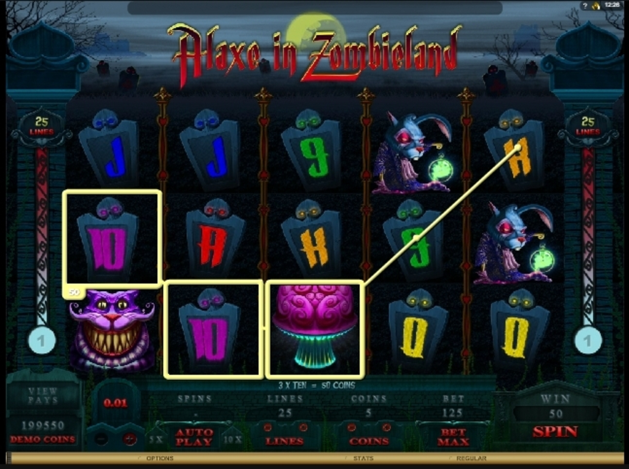 Win Money in Alaxe in Zombieland Free Slot Game by Microgaming
