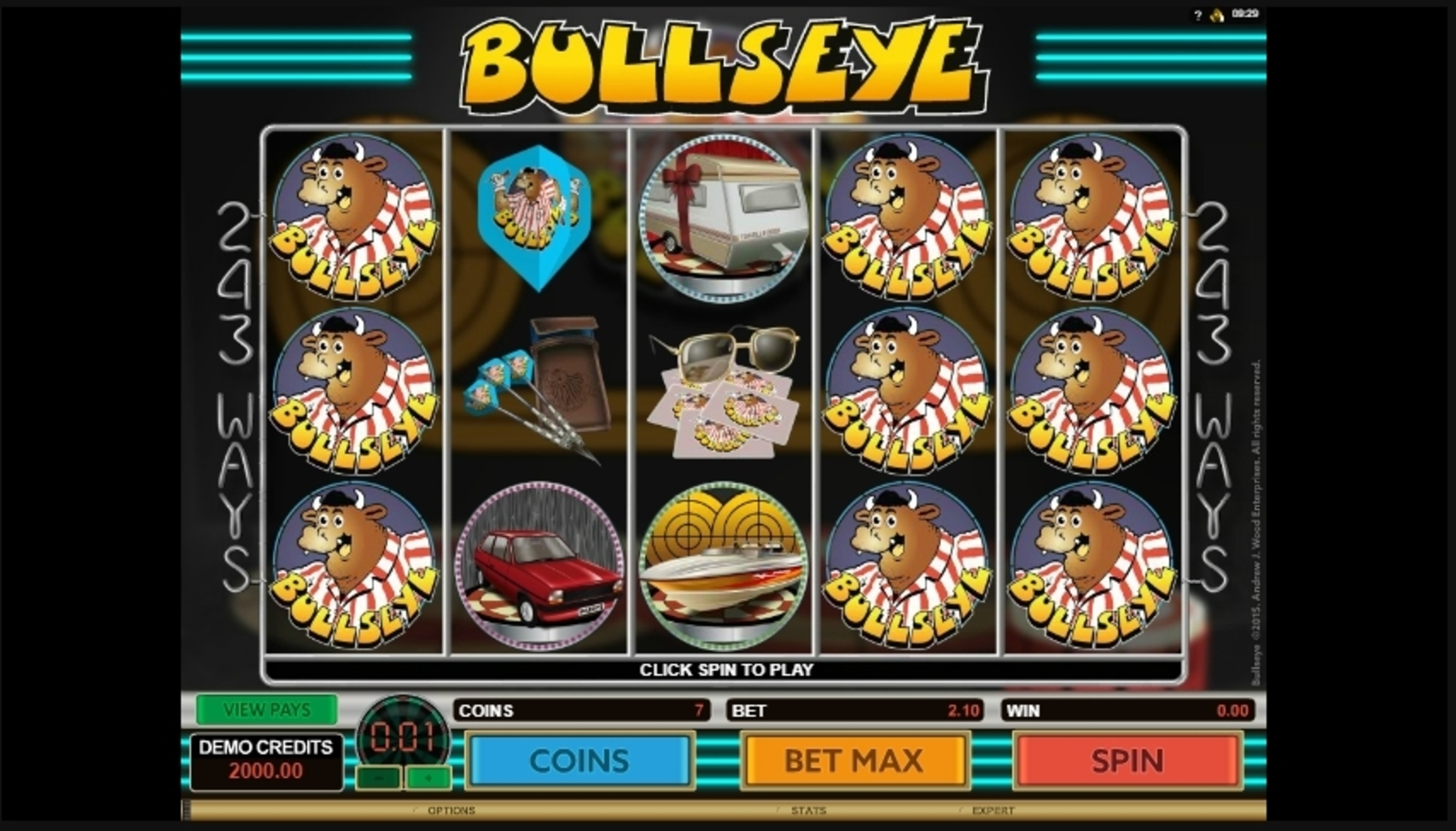 Reels in Bulls Eye Slot Game by Microgaming