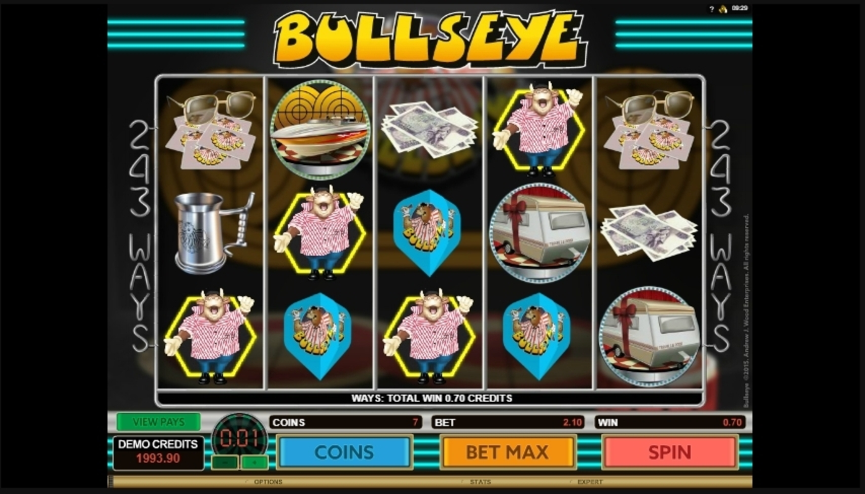 Win Money in Bulls Eye Free Slot Game by Microgaming