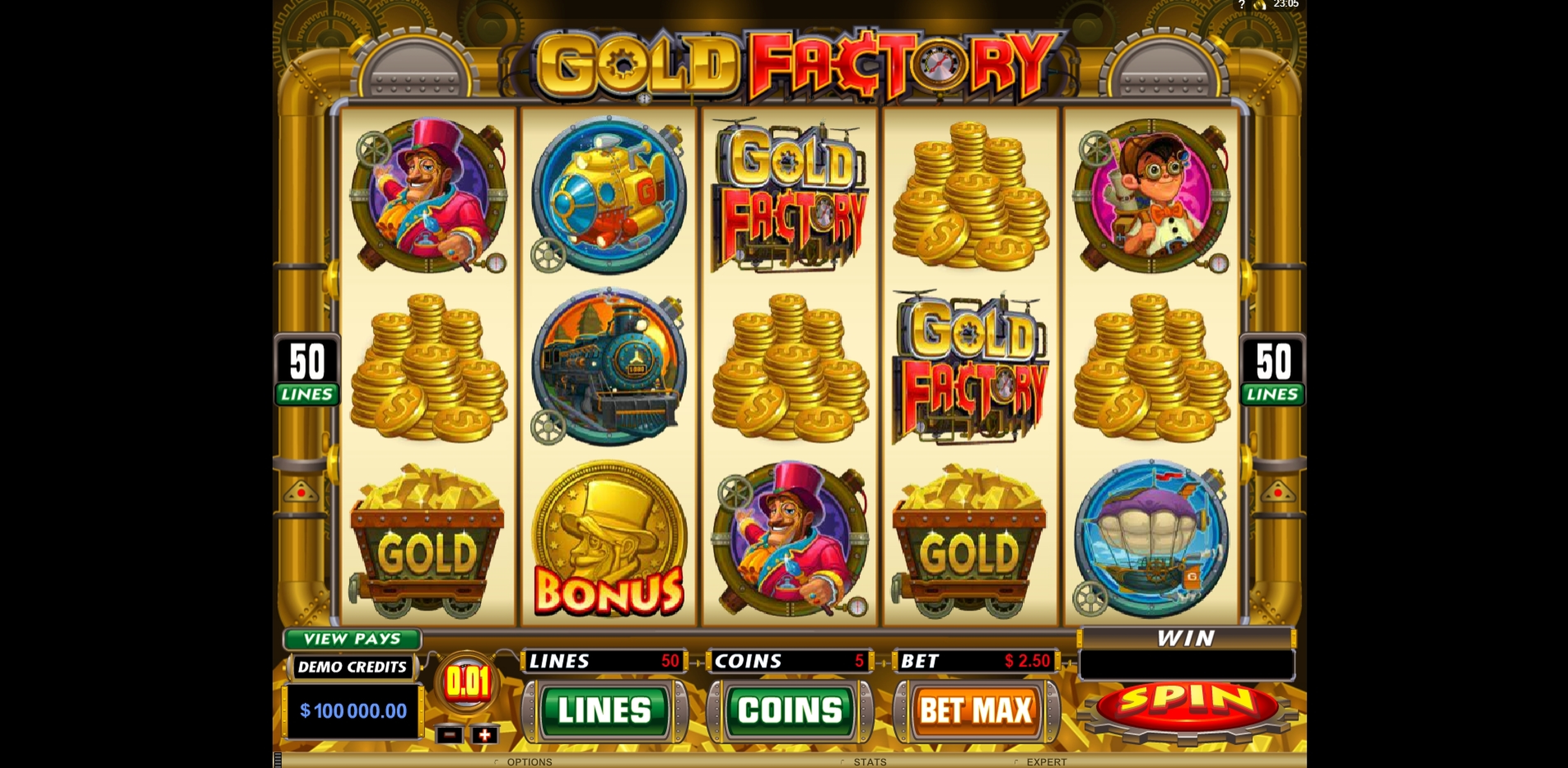 Reels in Gold Factory Slot Game by Microgaming