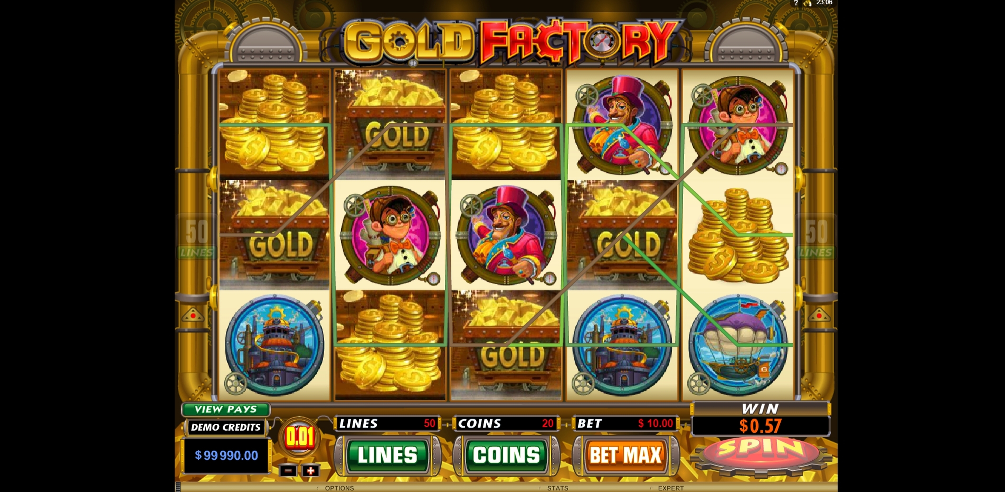 Win Money in Gold Factory Free Slot Game by Microgaming