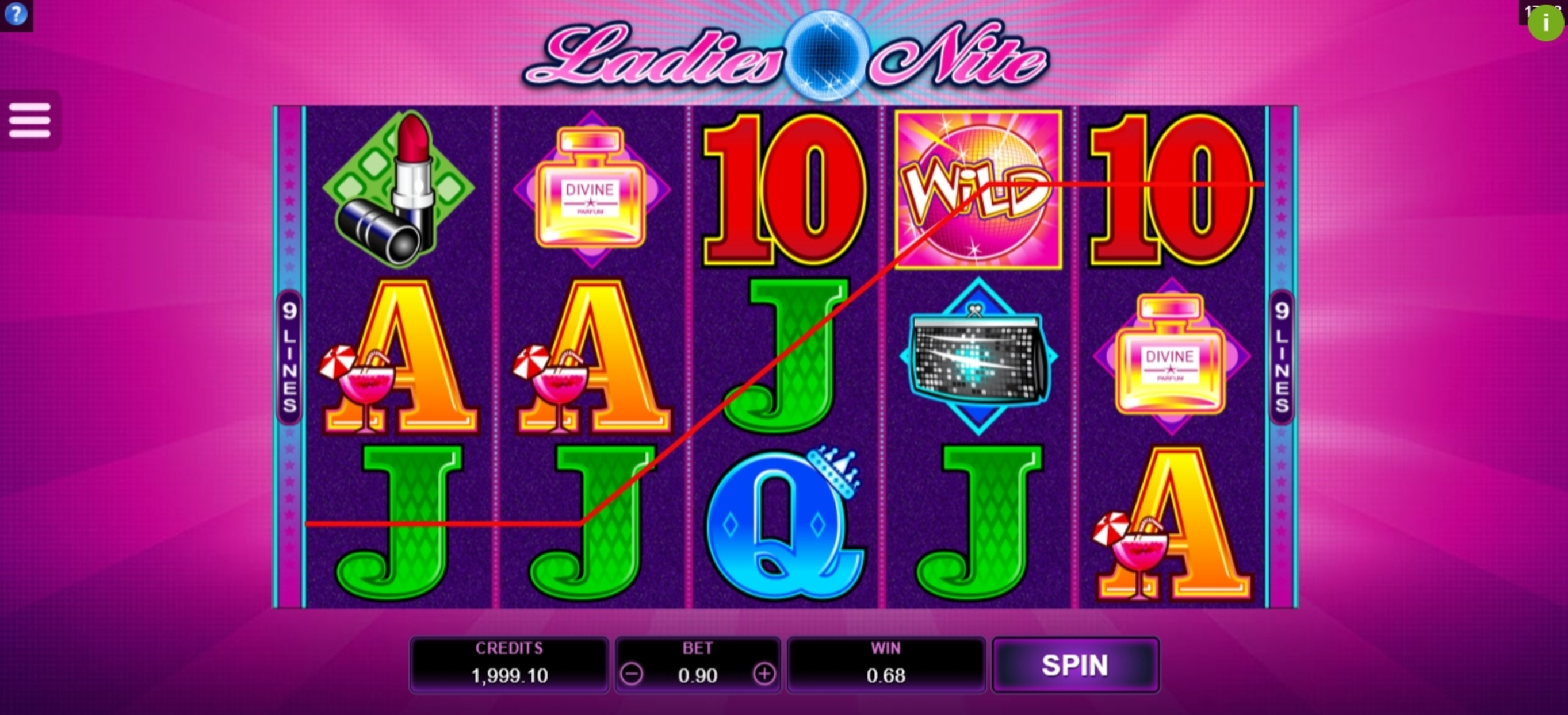 Win Money in Ladies Nite Free Slot Game by Microgaming