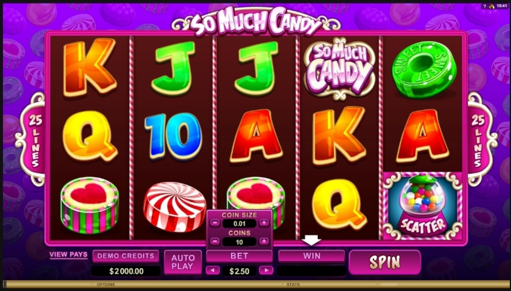 Reels in So Much Candy Slot Game by Microgaming