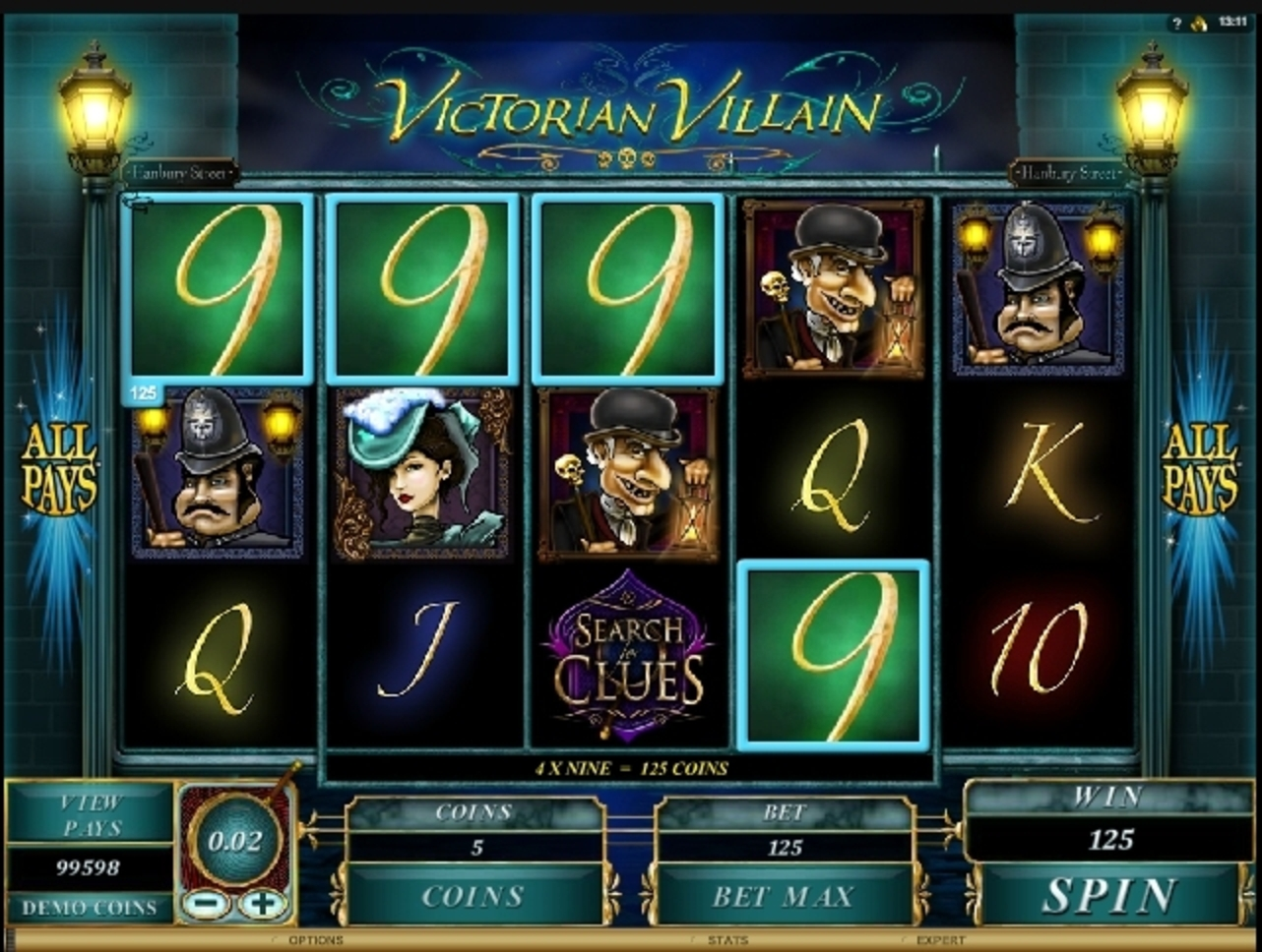 Win Money in Victorian Villain Free Slot Game by Microgaming