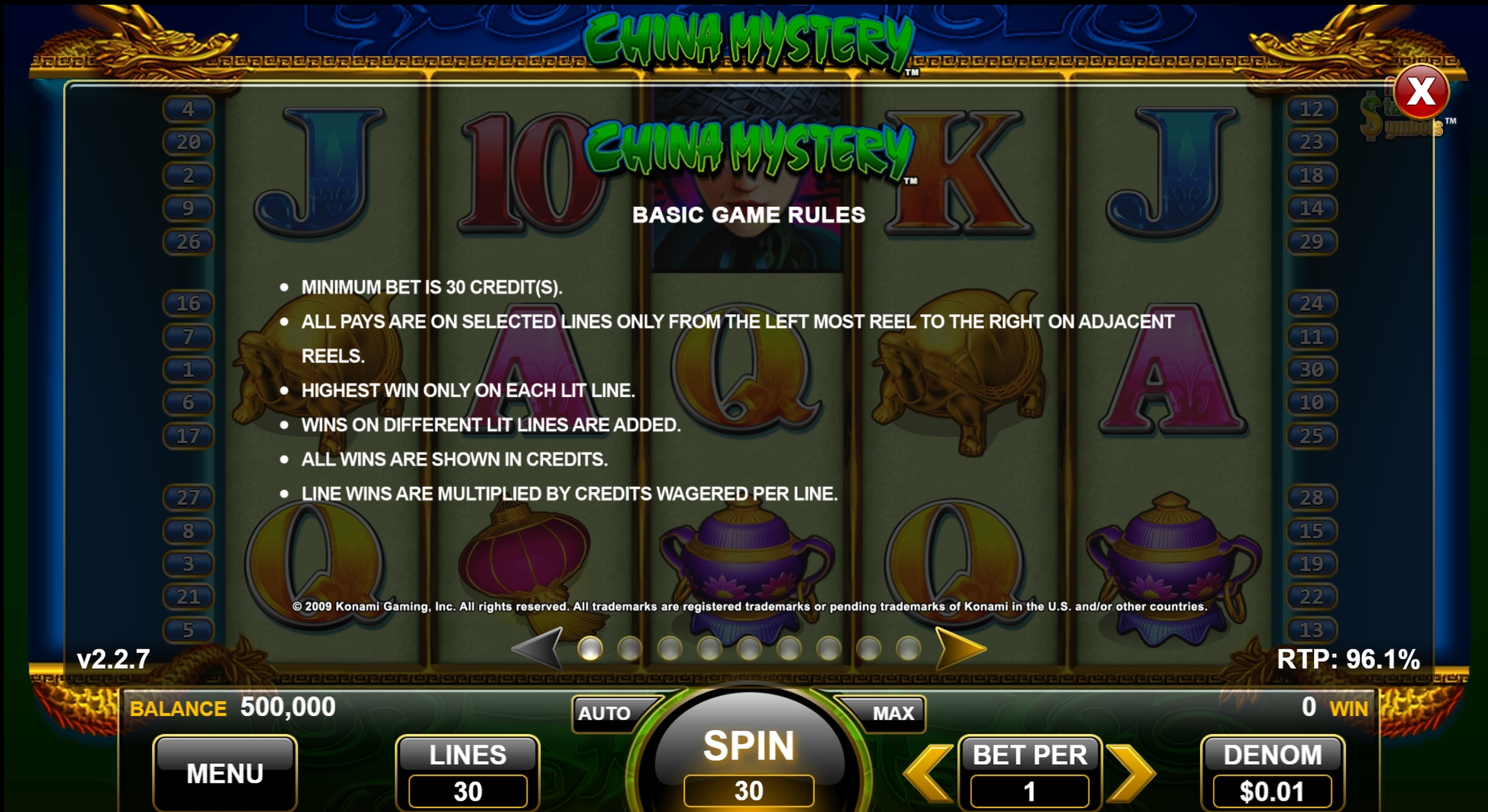 Info of China Mystery Slot Game by Nektan